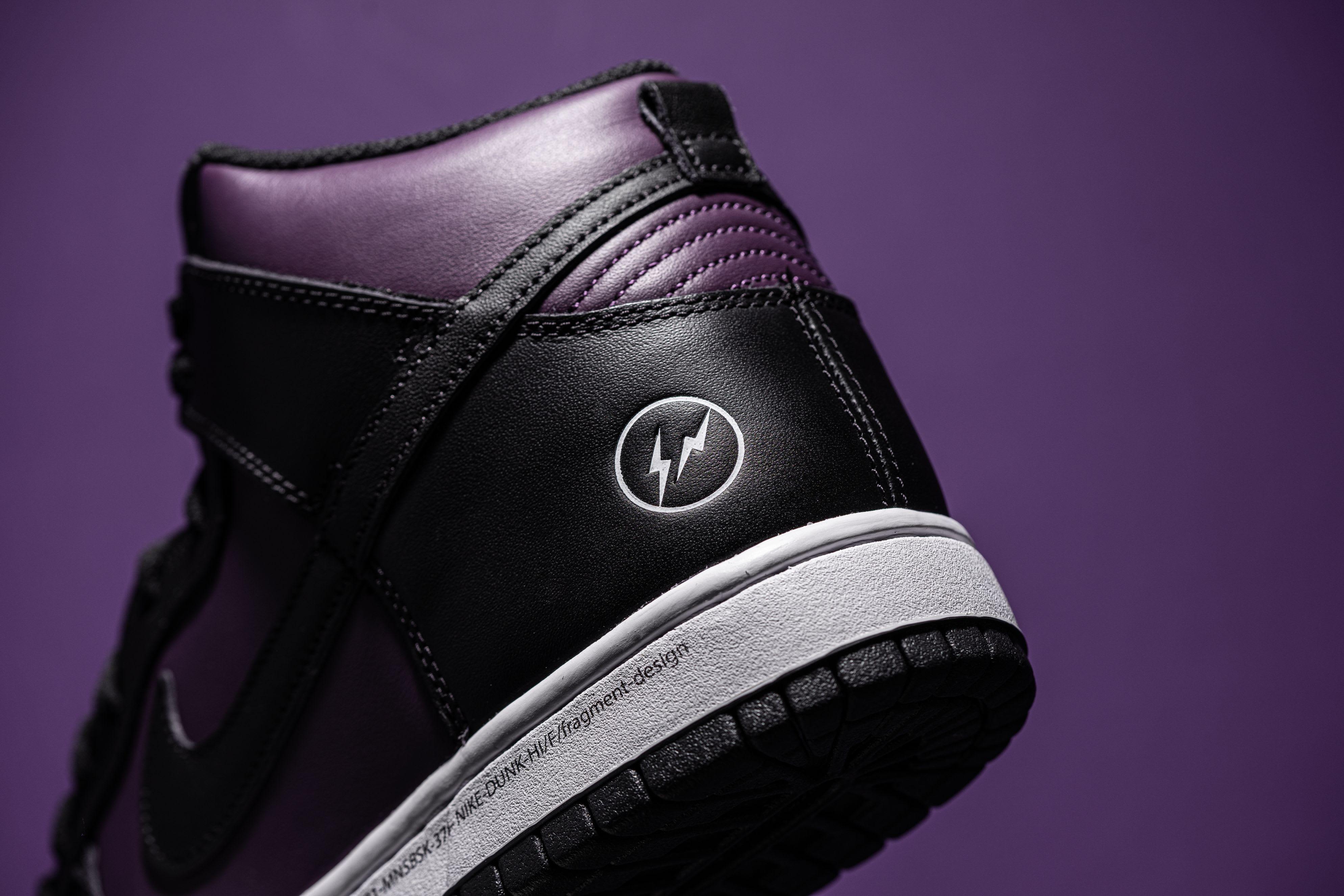 Fragment x Nike Dunk High Wine/Black/White 'Beijing' (Logo)