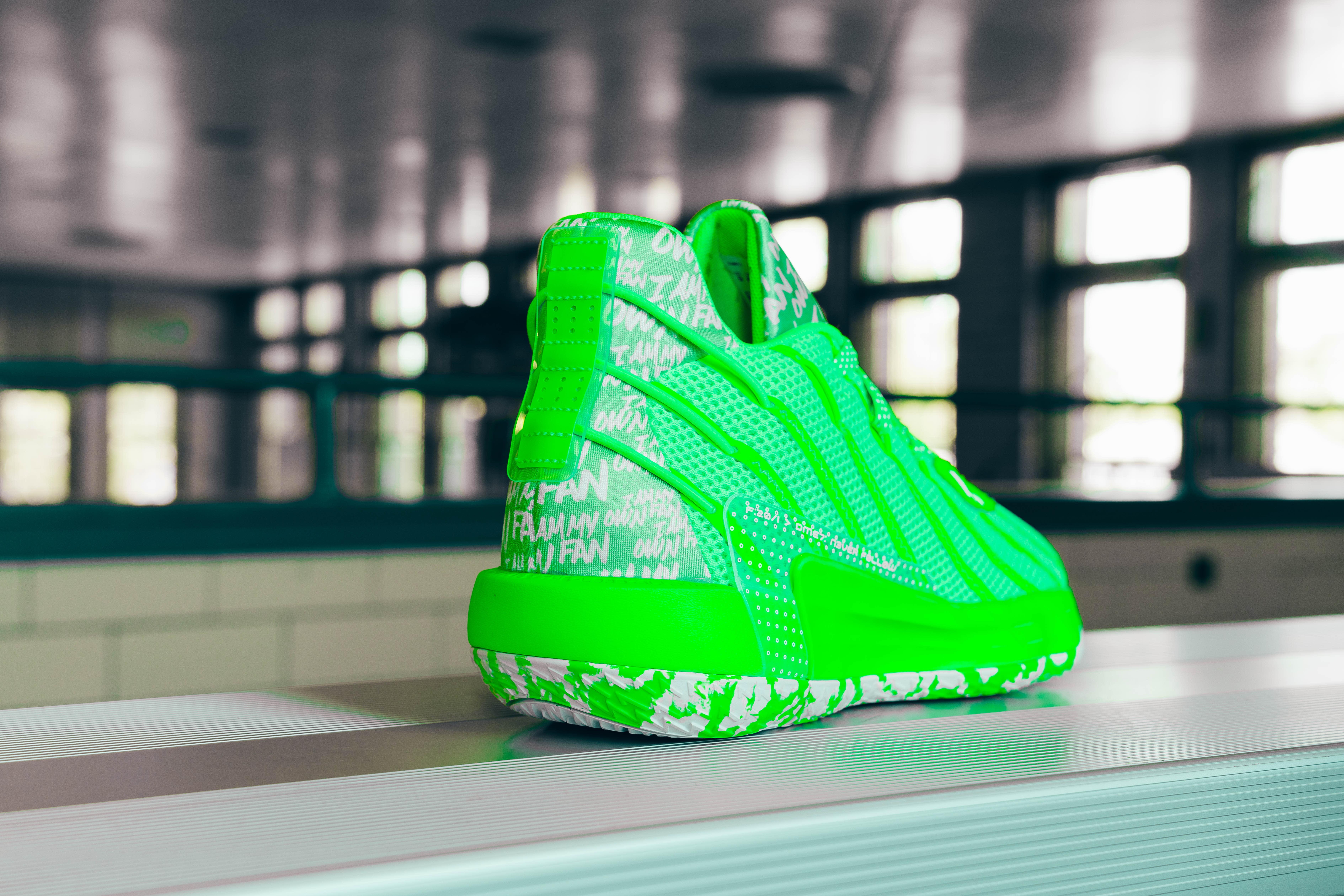 Adidas Dame 7 Lime (Heel)