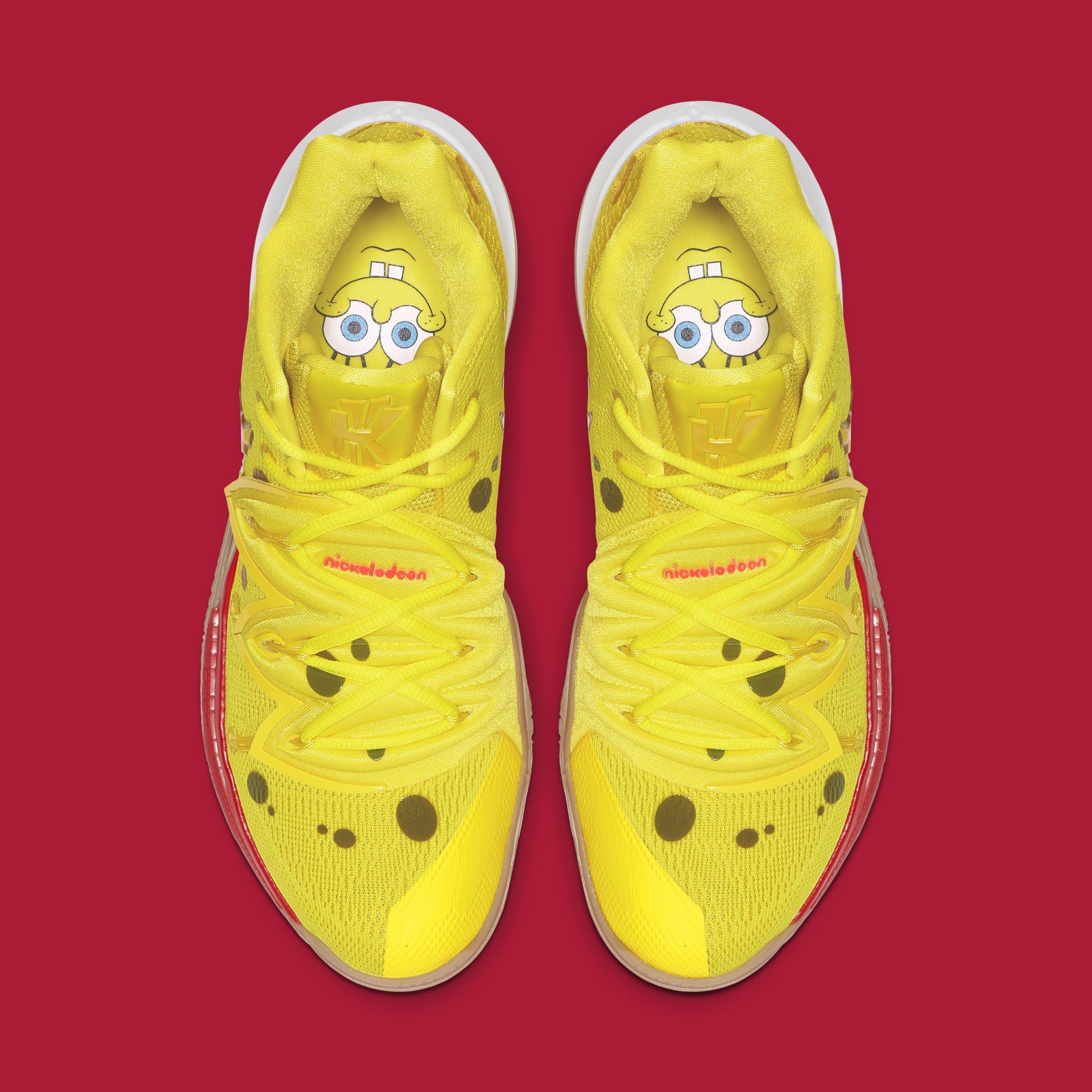'SpongeBob SquarePants' x Nike Kyrie 5 'SpongeBob' CJ6951-700 (Top)