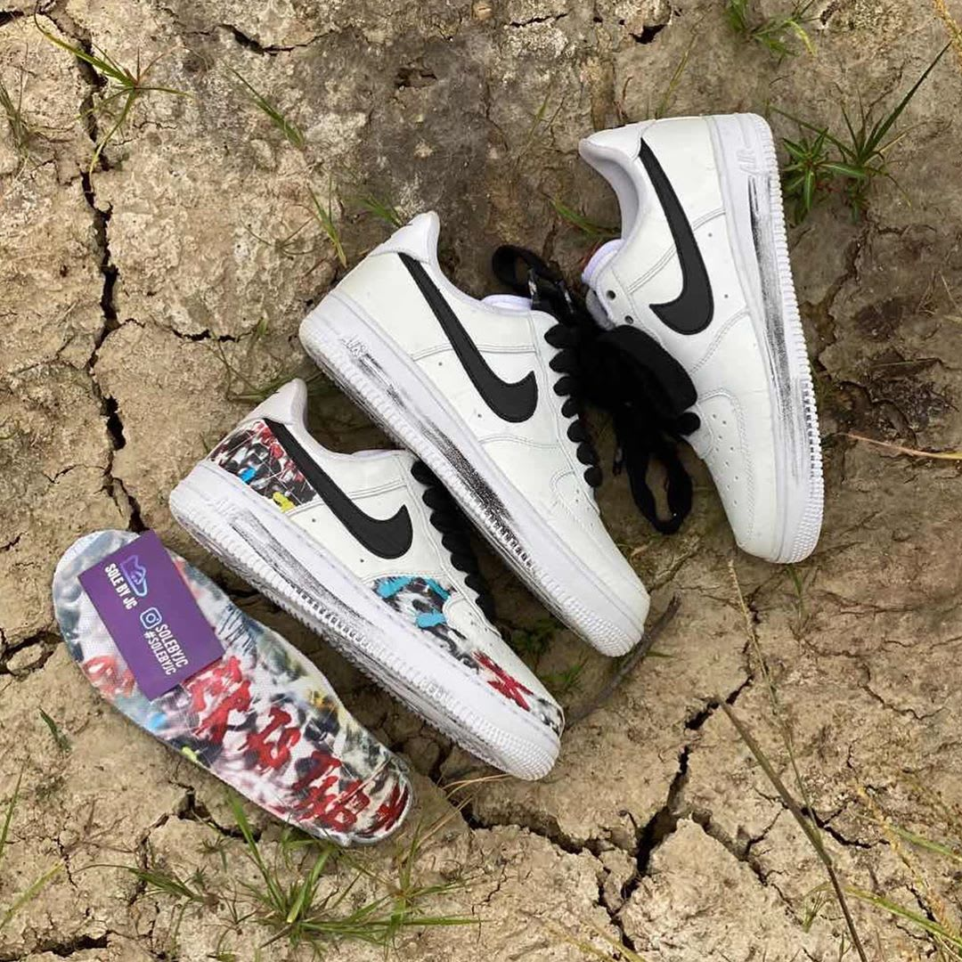 Peaceminusone x Nike Air Force 1 Low White Black Release Date DD3323-100 Medial