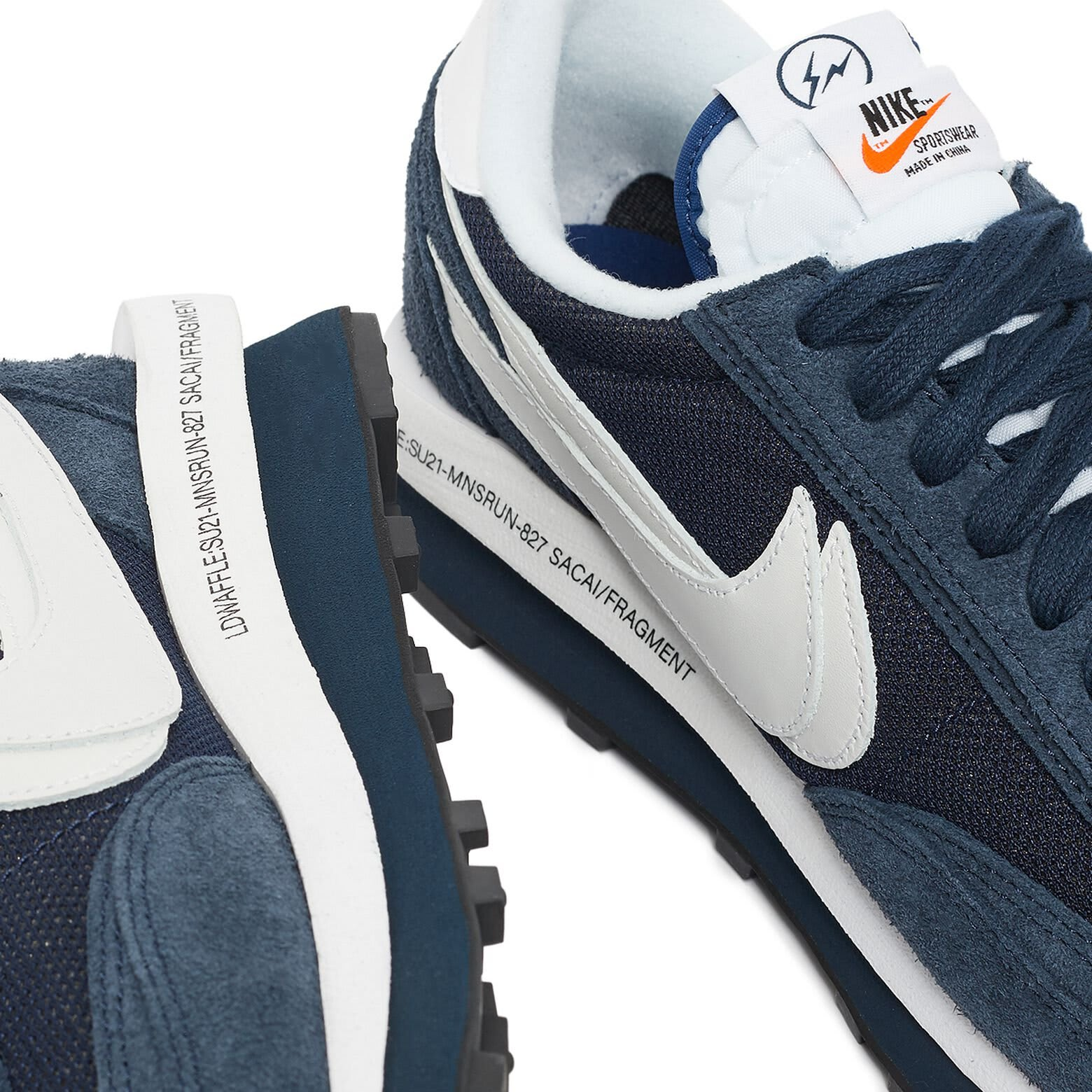 Fragment x Sacai x Nike LDWaffle 'Blue' DH2684-400 Side