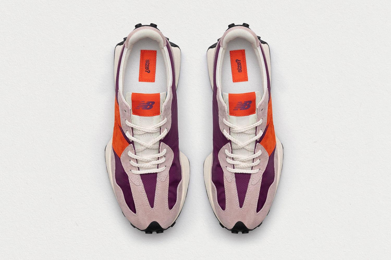 size? x New Balance 327 'purple/grey/orange' Top