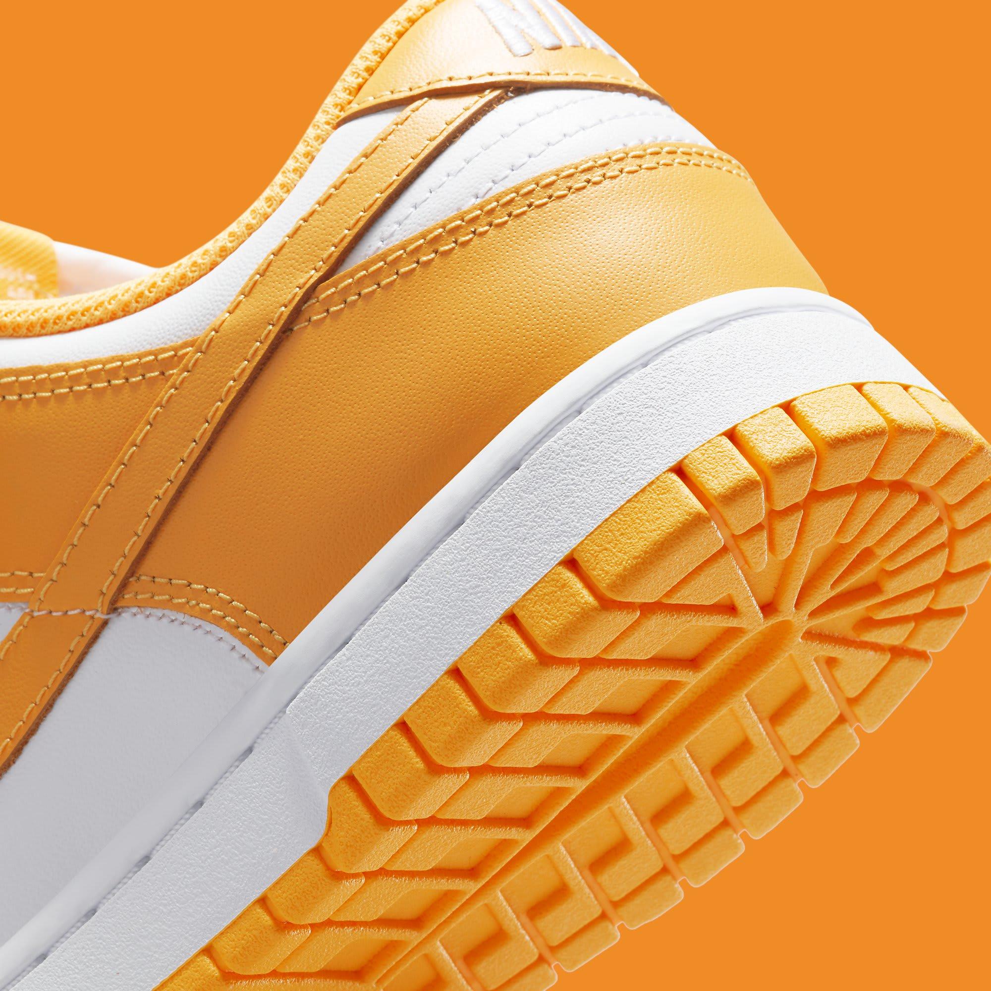 Nike Dunk Low Laser Orange Release Date DD1503-800 Heel Detail