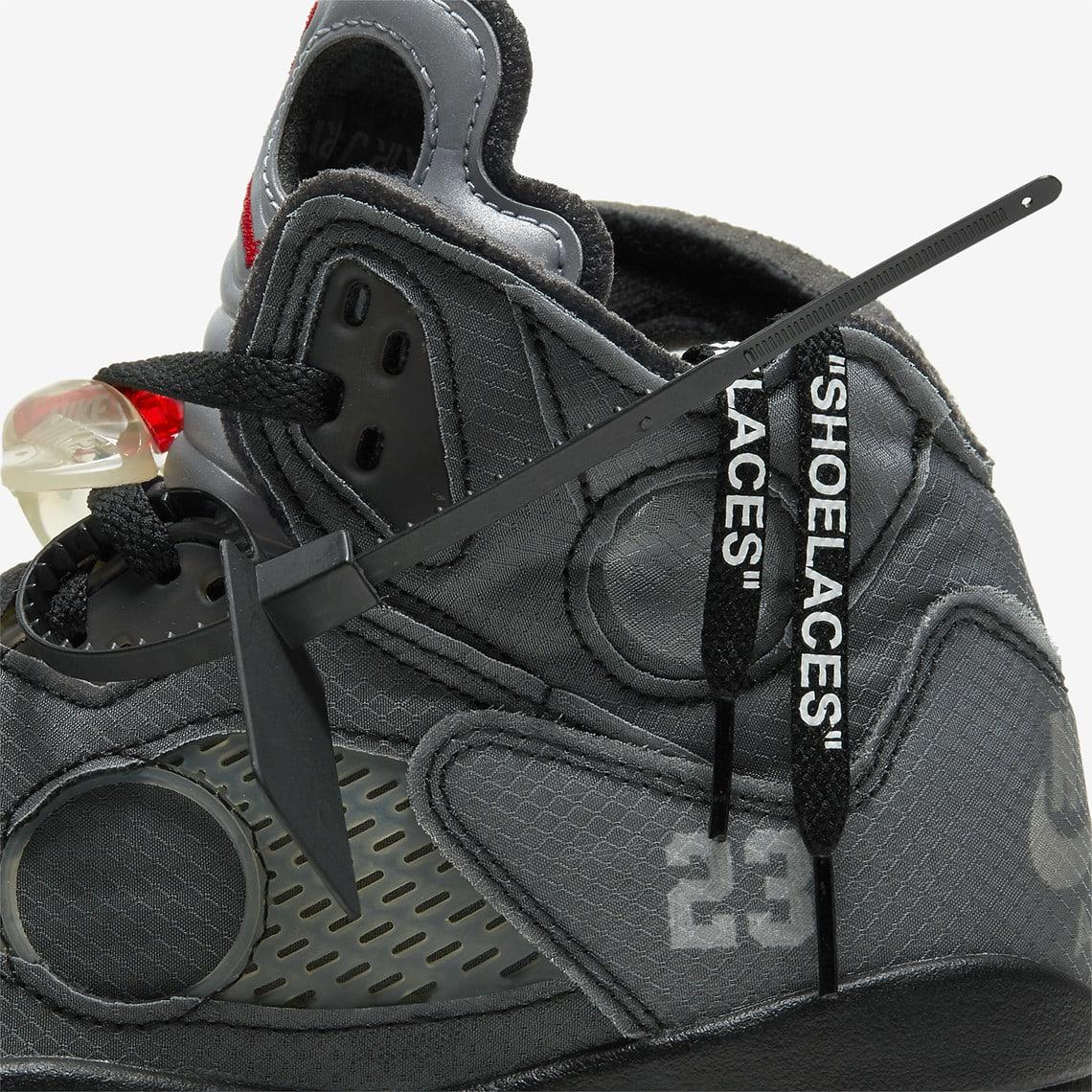 Off-White x Air Jordan 5 CT8480-001 (Detail)
