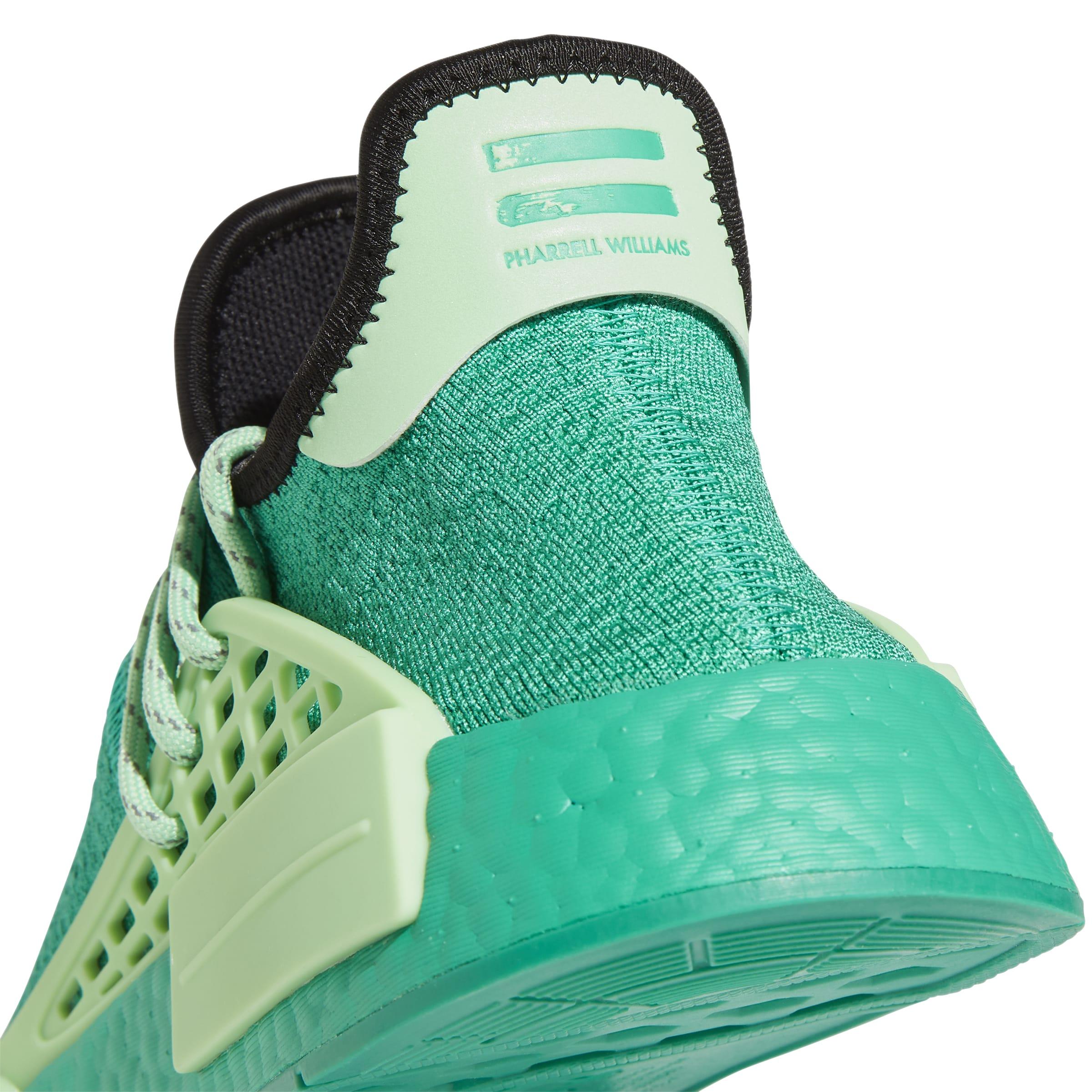Pharrell x Adidas NMD Hu 'Green' FY0089 Heel