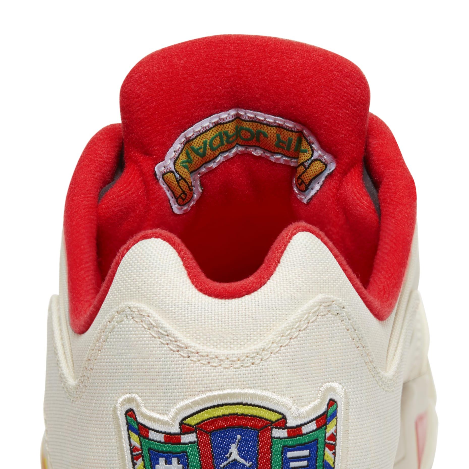 Air Jordan 5 Retro Low 'Chinese New Year' DD2240-100 Heel