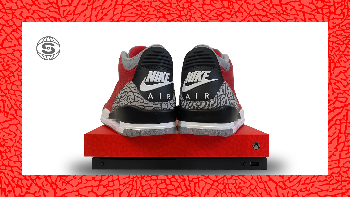 Xbox x Air Jordan 3 'Retro U' (Heel)