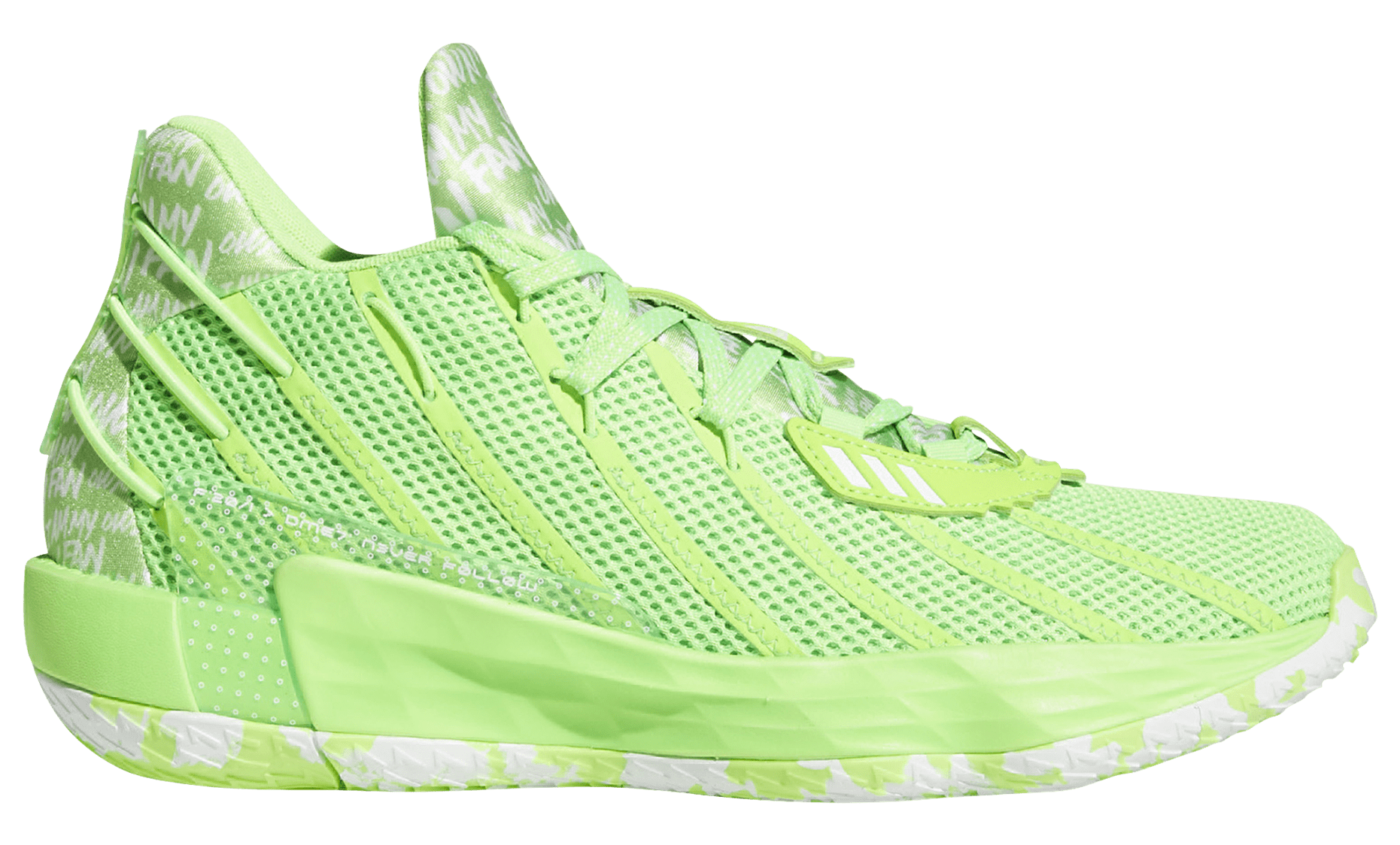 Adidas Dame 7 'Neon' Lateral