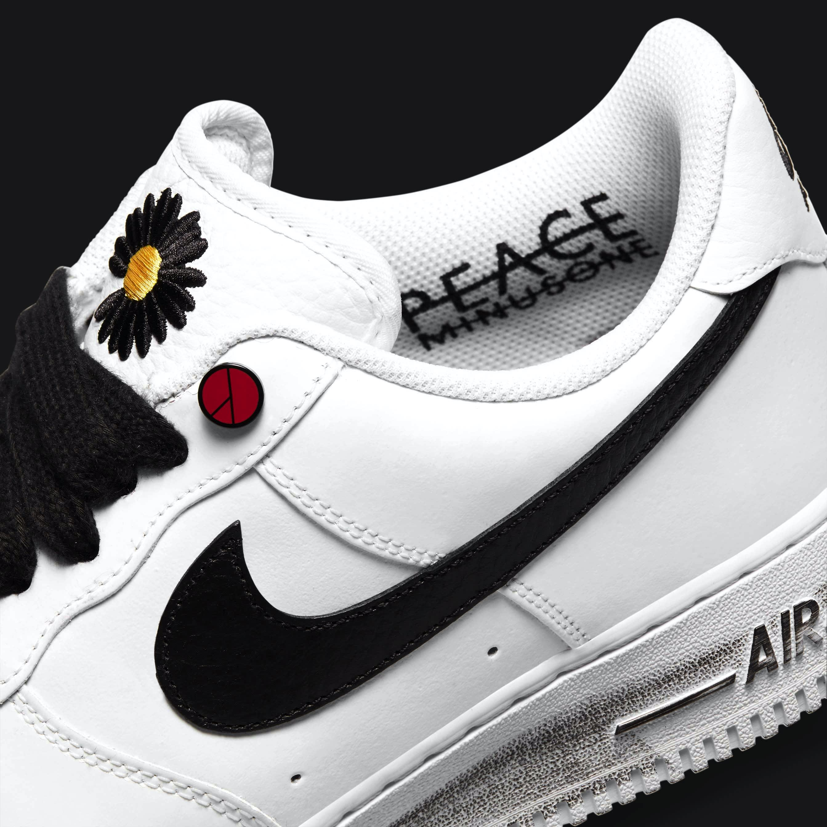 G-Dragon x Nike Air Force 1 Para-Noise Release Date DD3223-100 Lining