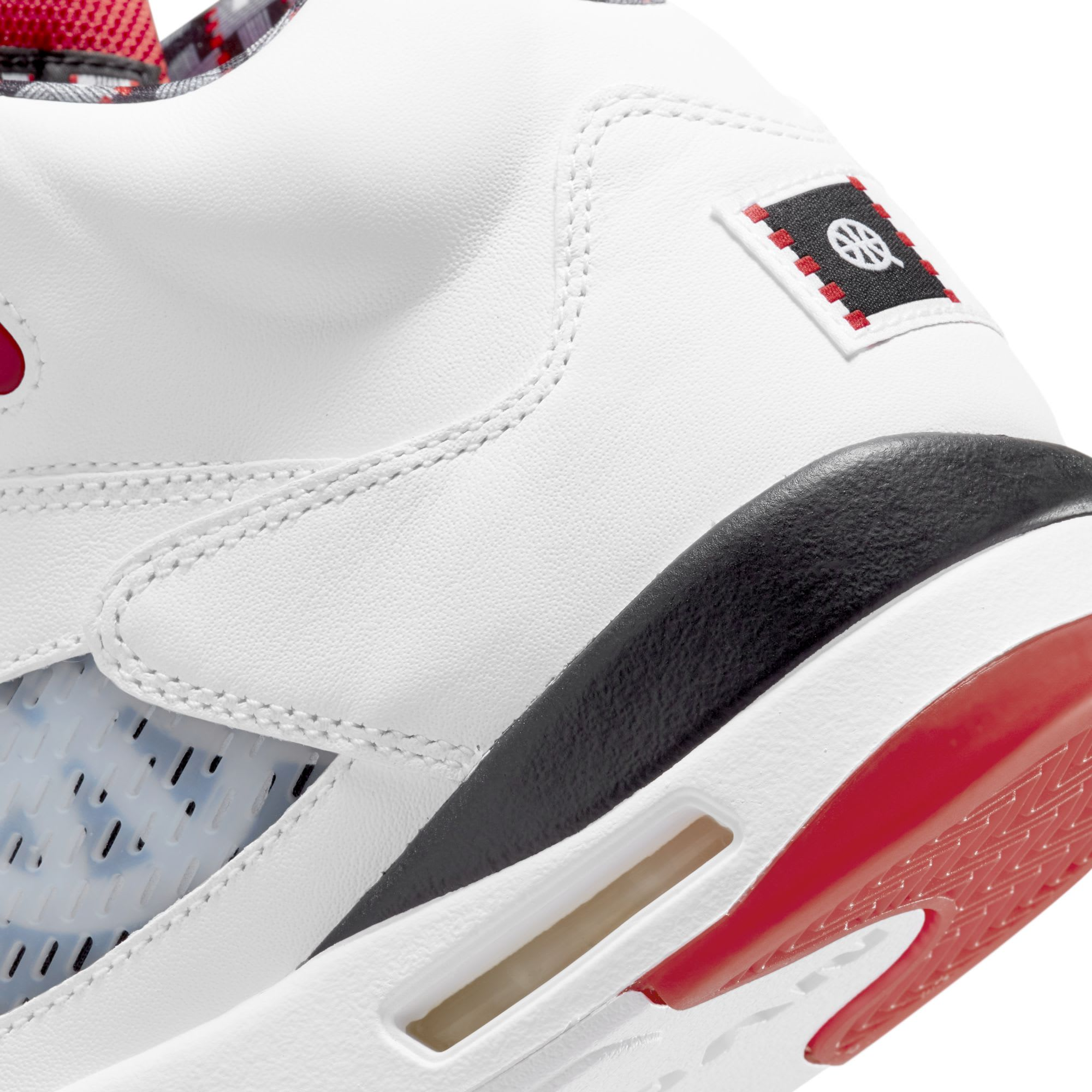 Air Jordan 5 V Quai 54 2021 Release Date Heel Detail