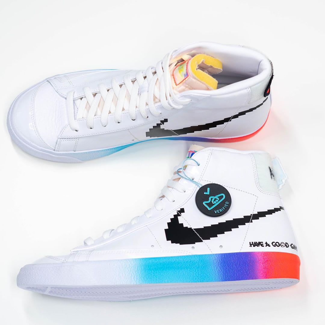 Nike Blazer Mid '77 Vintage 'Have a Good Game' White/White/Bright Crimson/Black DC3280-101 (Pair)