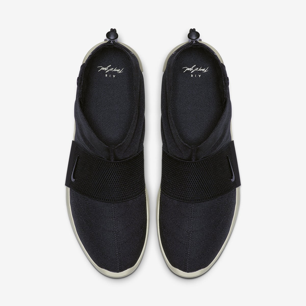 3d1d1788 Image via @pyleaks · Nike Air Fear of God Moccasin 'Black/Black-Fossil'  (Top)
