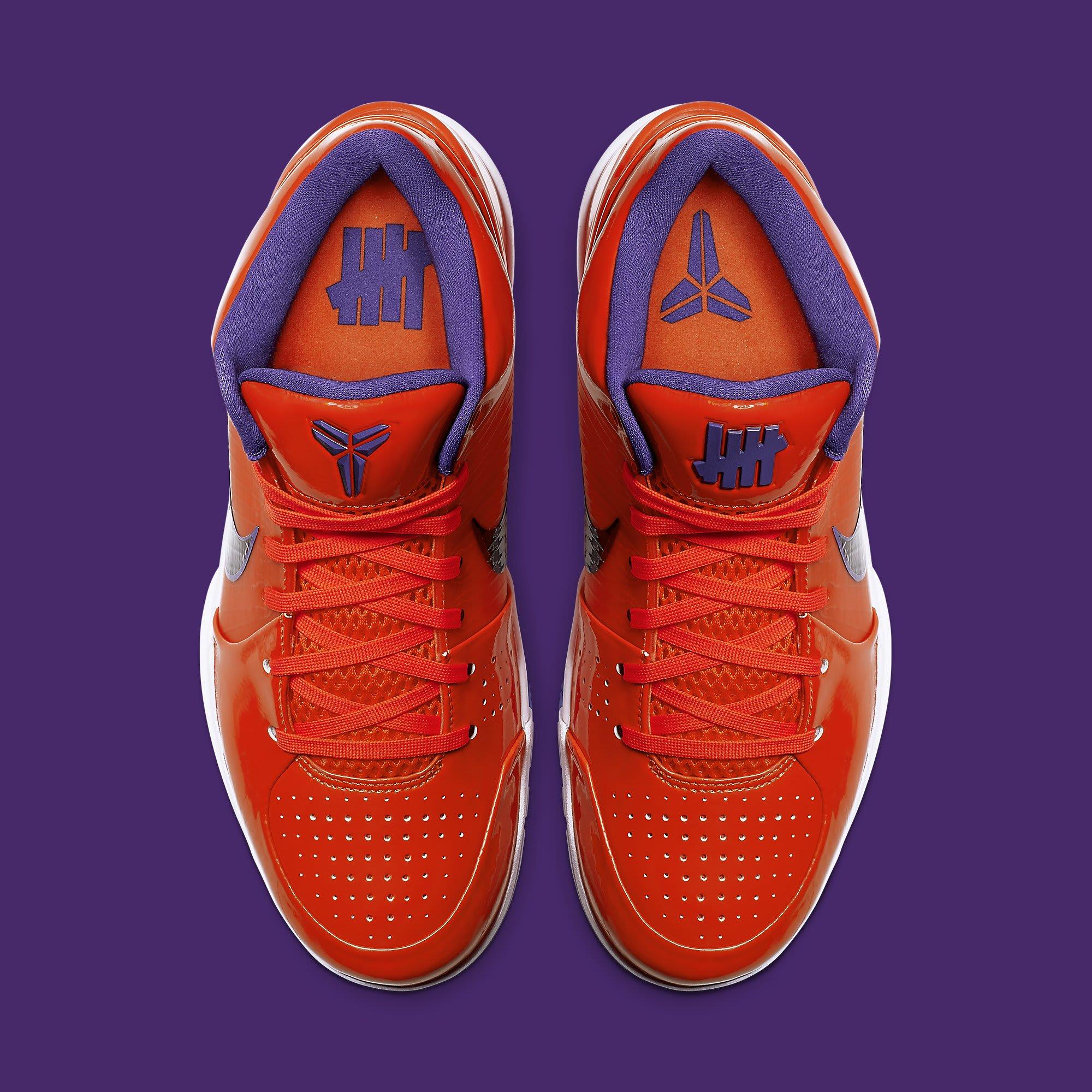 UNDFTD x Nike Kobe 4 Protro Orange Release Date CQ33869-800 Top