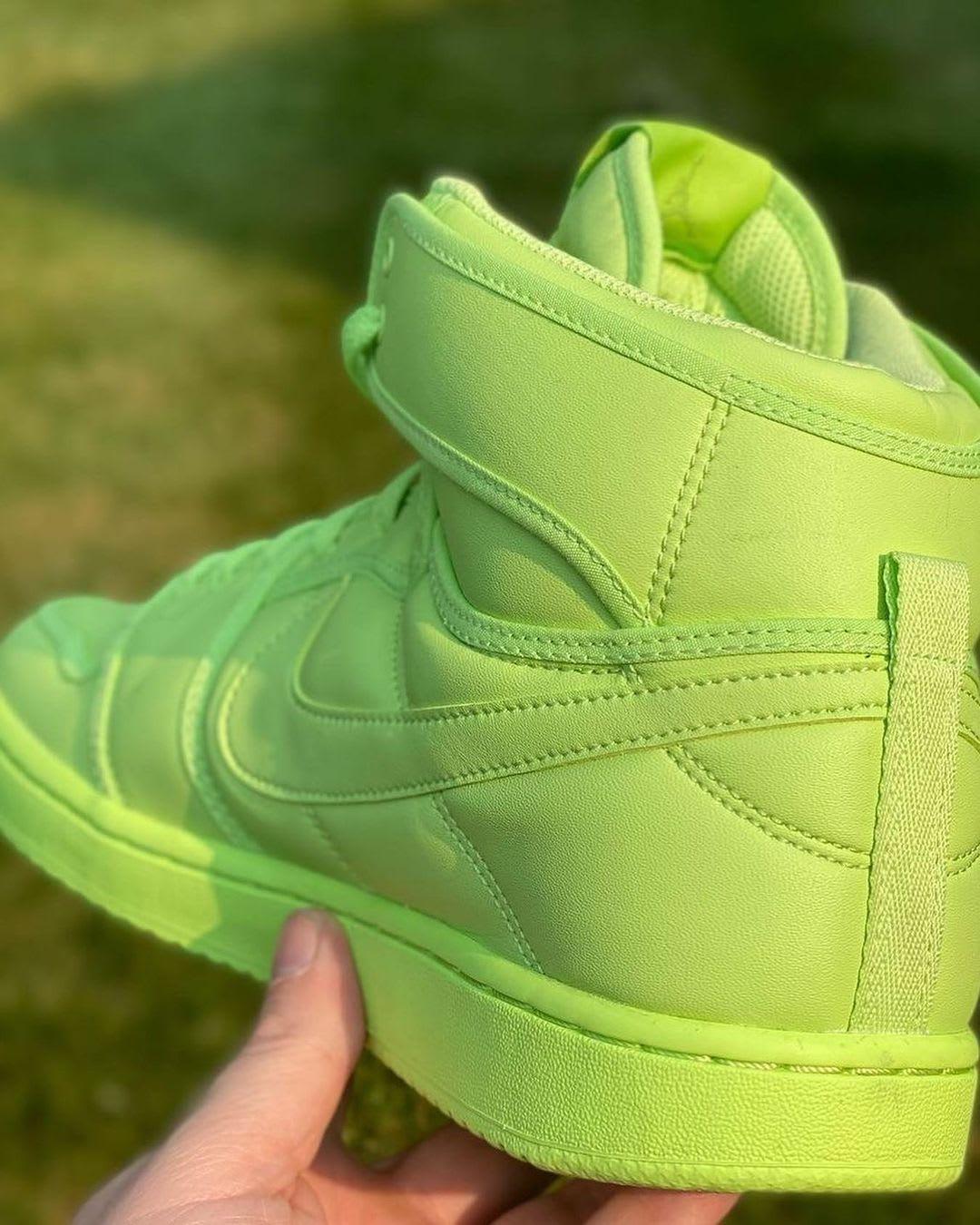 Billie Eilish x Air Jordan 1 KO 'Ghost Green' DN2857-330 (Heel)
