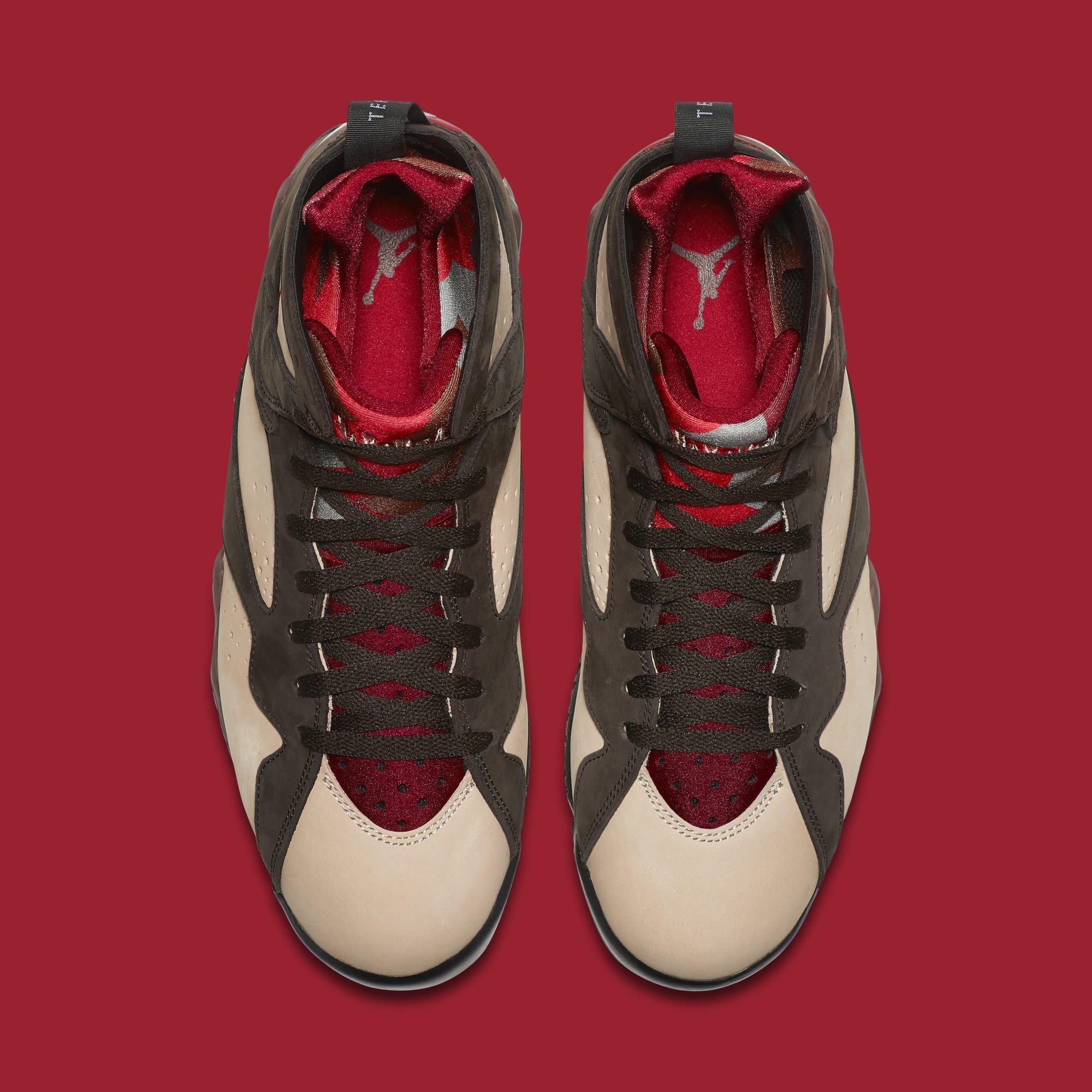 Patta x Air Jordan 7 AT3375-200 (Top)
