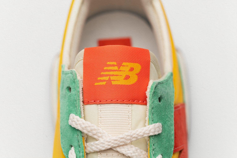 size? x New Balance 327 'yellow/green/orange' Tongue