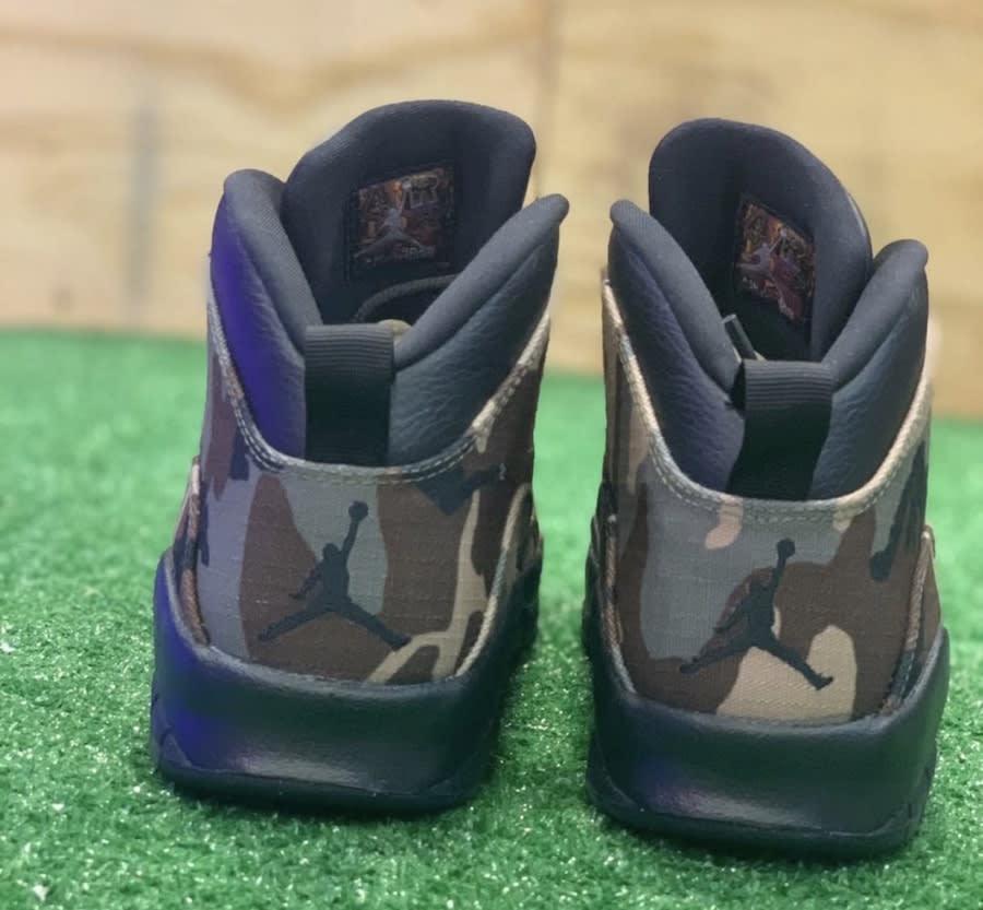 Air Jordan 10 X Desert Camo Release Date 310805-201 Heel