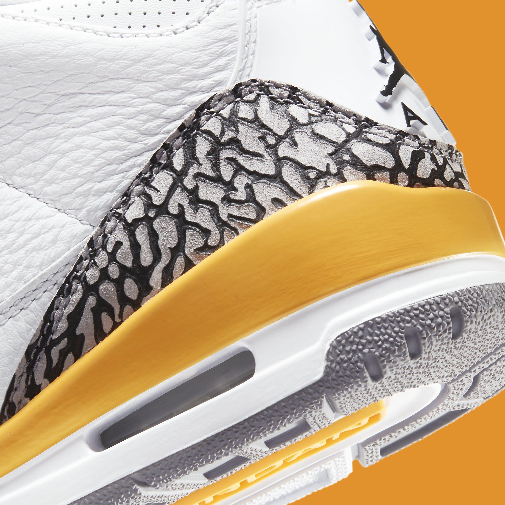 Air Jordan 3 III Laser Orange Release Date CK9246-108 Heel Detail