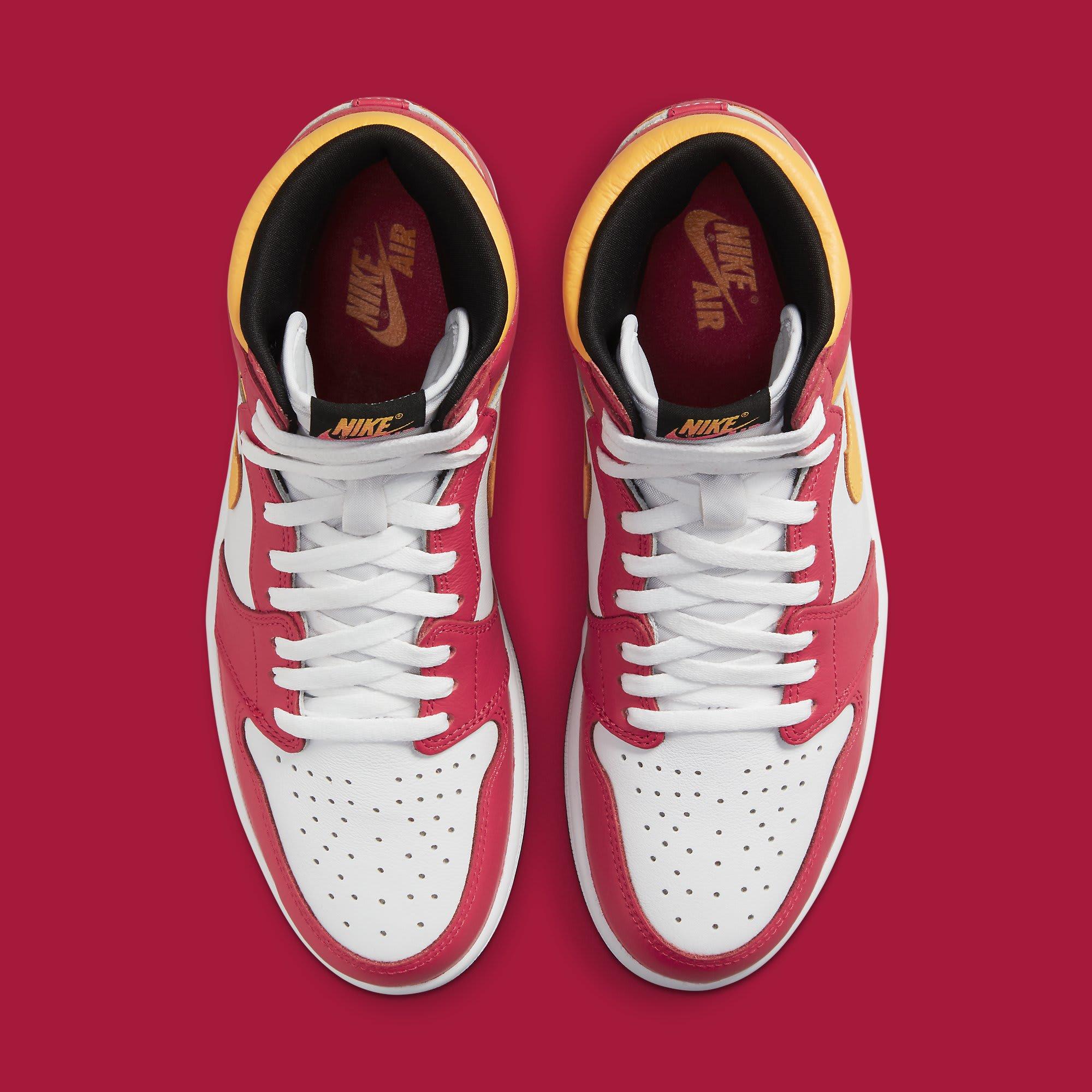 Air Jordan 1 Light Fusion Red Release Date 555088-603 Top