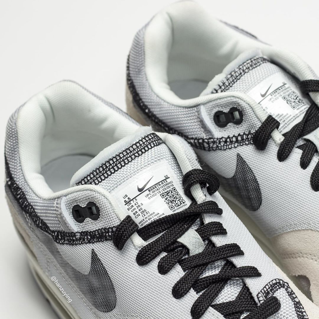 Nike Air Max 1 'Inside Out/Light Grey' 858876-013 (Tongue)