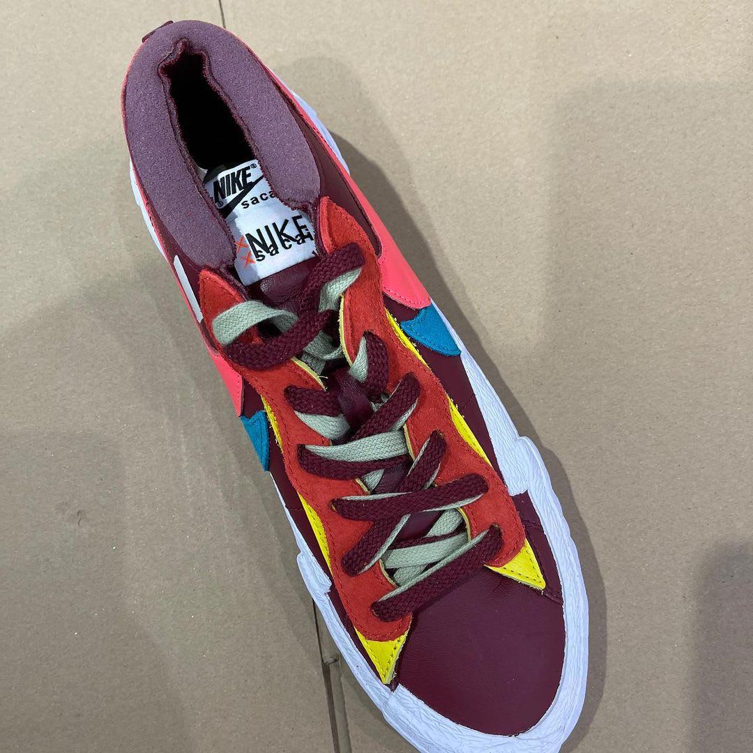 Kaws x Sacai x Nike Blazer Low 'Red' Top