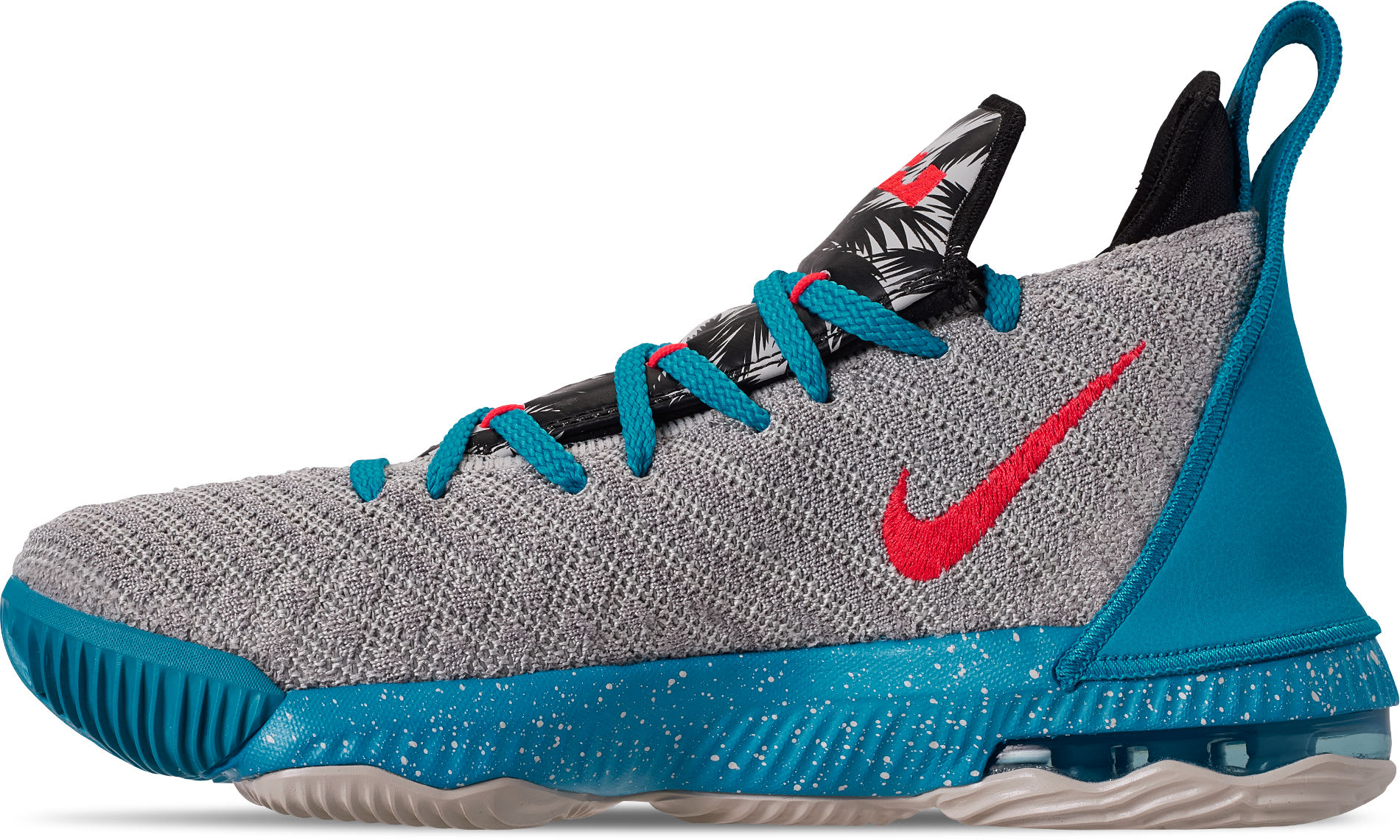 c0d04a18624 Image via Finish Line Nike LeBron 16  South Beach  AQ2465-076 Medial