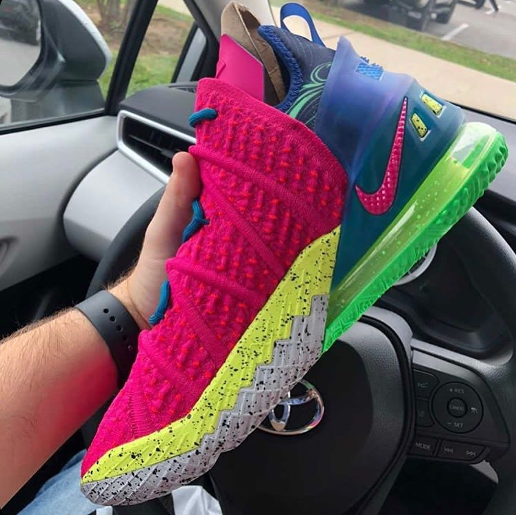 Nike LeBron 18 LA Nights Pink Prime Multicolor Release Date DB8148-600 Medial