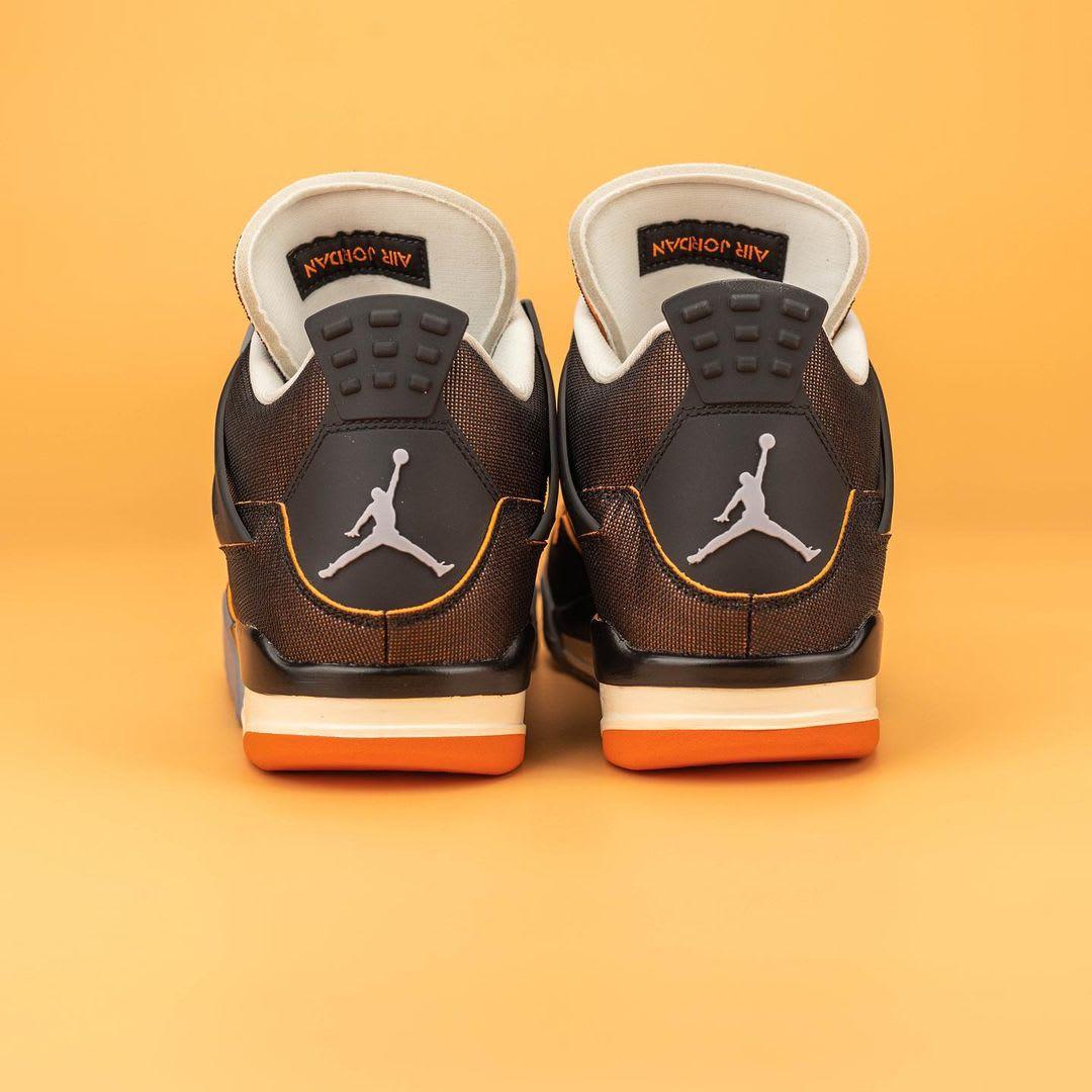 Air Jordan 4 IV Starfish Release Date CW7183-100 Heel