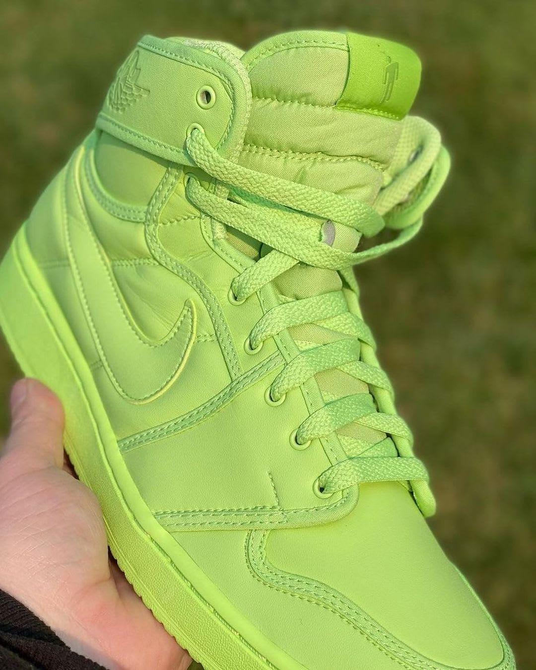 Billie Eilish x Air Jordan 1 KO 'Ghost Green' DN2857-330 (Unlaced)