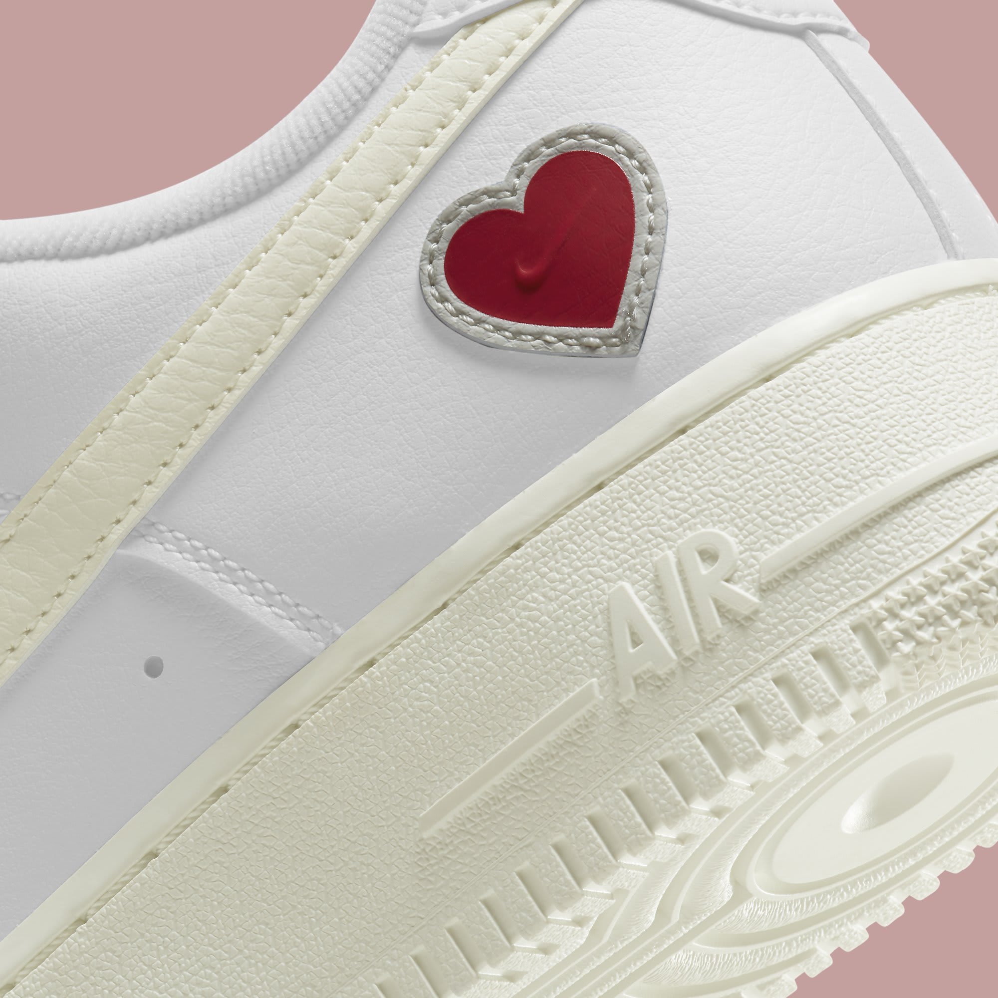 Nike Air Force 1 Low Valentine's Day 2021 Release Date DD7117-100 Heel Detail