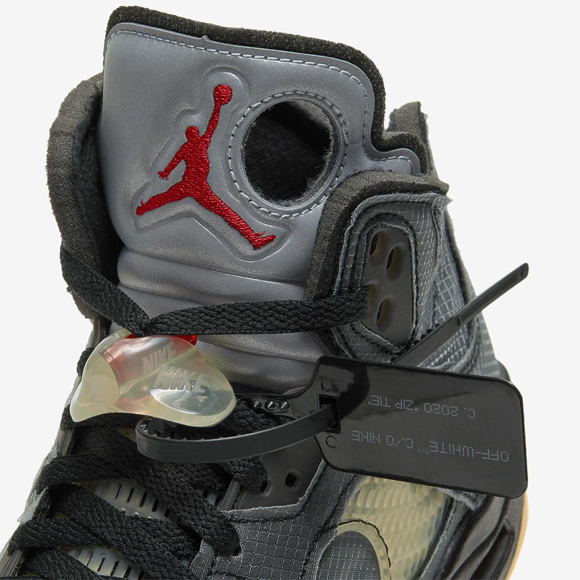 Off-White x Air Jordan 5 CT8480-001 (Tongue)