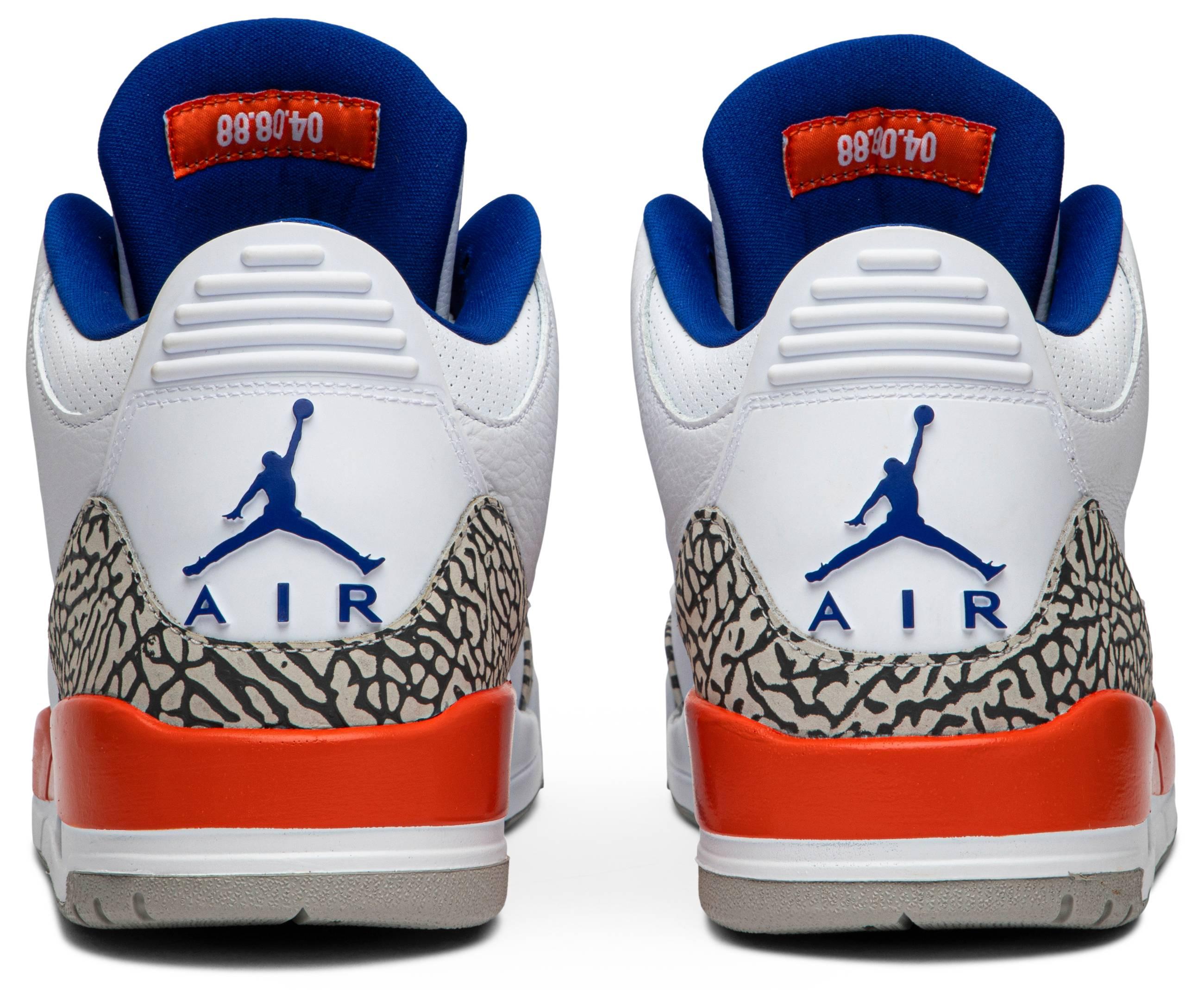 Air Jordan 3 'Knicks' 136064-14 (Heel)