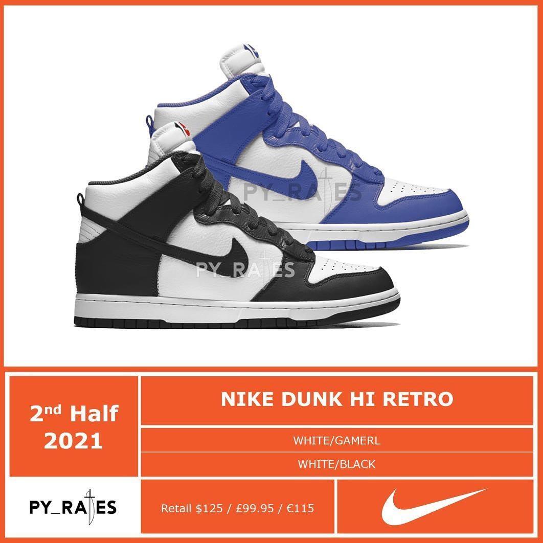 Nike Dunk High Retro 2021 Mock-up