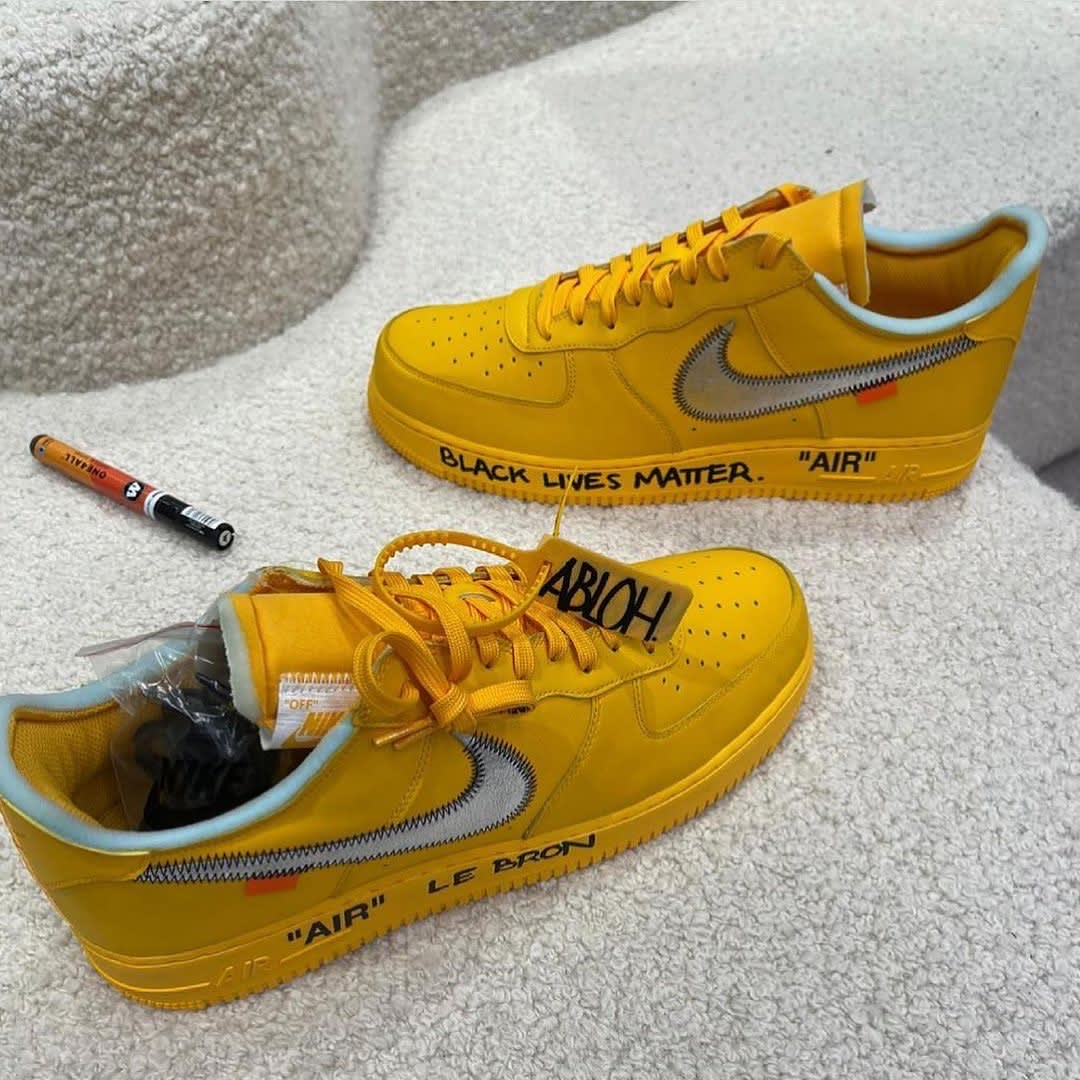 Yellow Off-White x Nike Air Force 1 Low