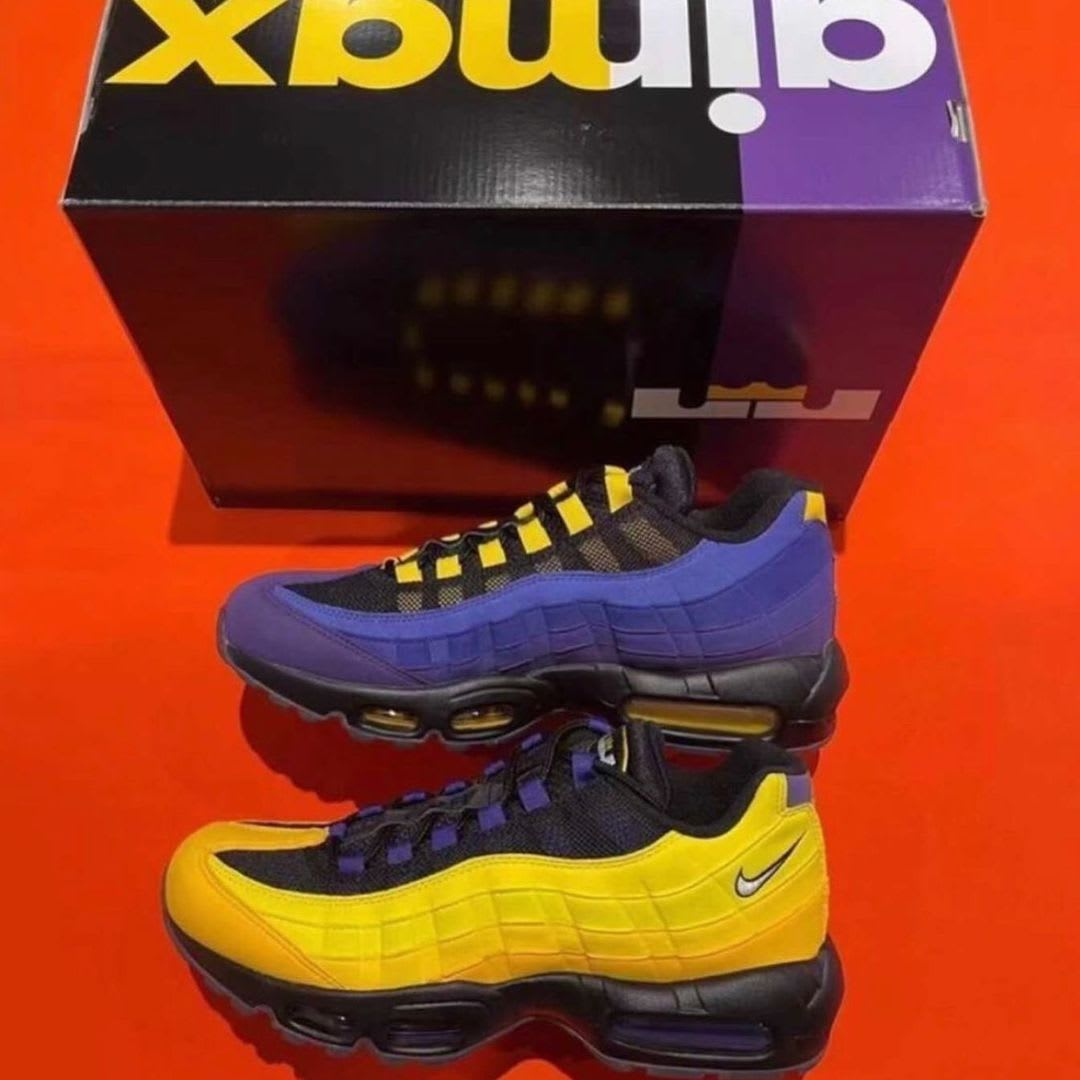 Nike Air Max 95 LeBron Lakers Release Date CZ3624-001
