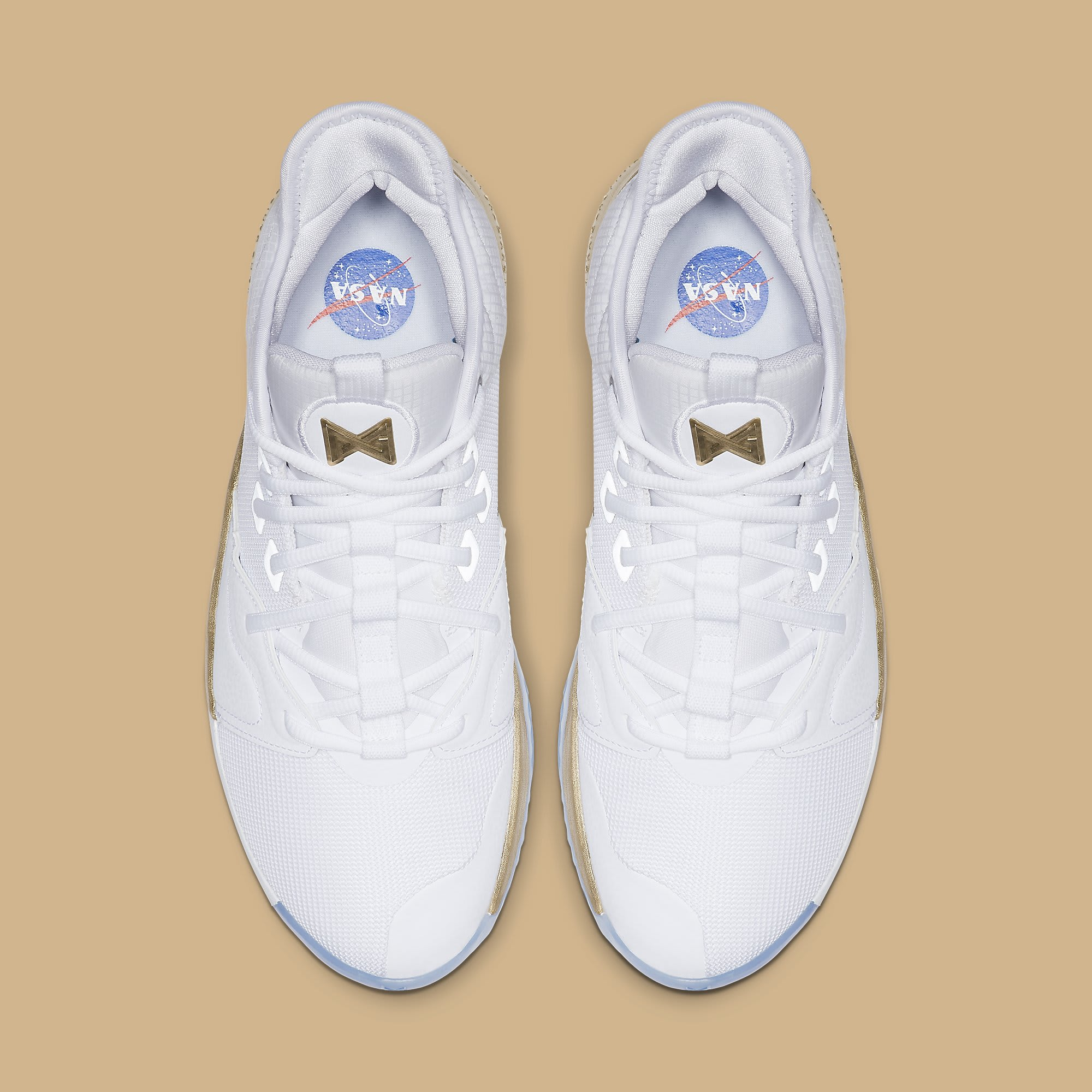 Nike PG3 NASA Gold Release Date CI2666-100 Top