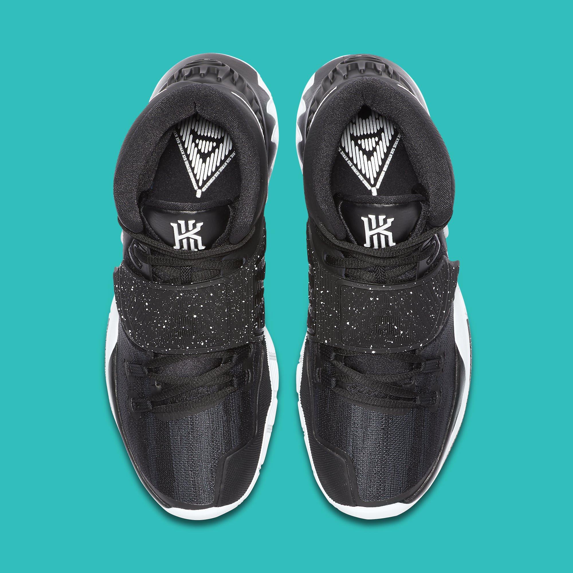 Nike Kyrie 6 Black White Data de lançamento BQ4630-001 Top