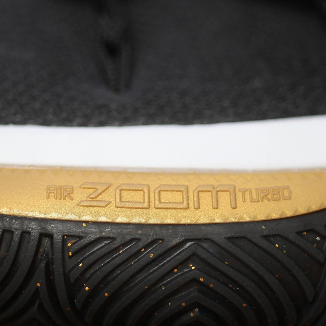 Nike Kyrie 5 Black Metallic Gold White Release Date AO2918-007 Air Zoom Turbo
