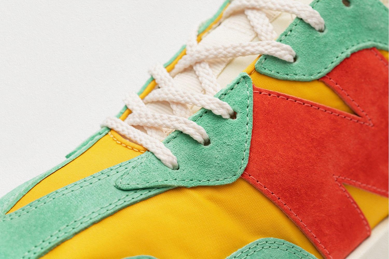 size? x New Balance 327 'yellow/green/orange' Front