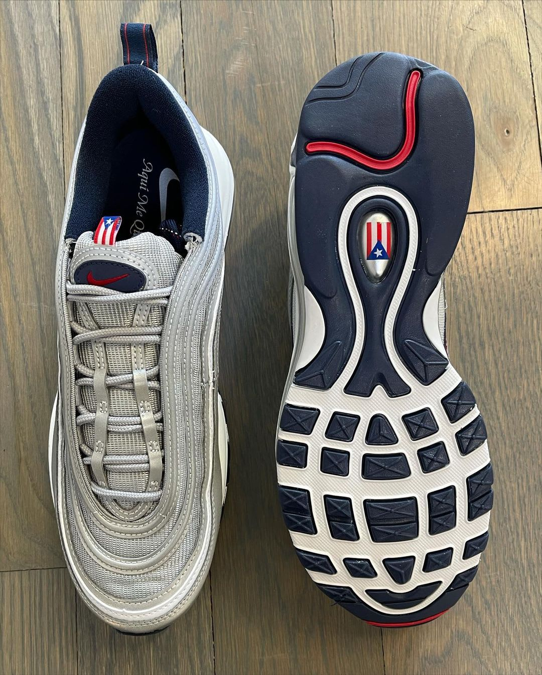 Nike Air Max 97 OG SP 'Puerto Rico' DH2319-001 (Top and Sole)