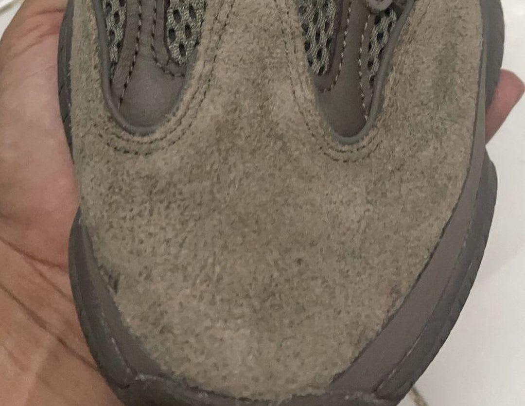 Adidas Yeezy 500 'Brown Clay' Toe