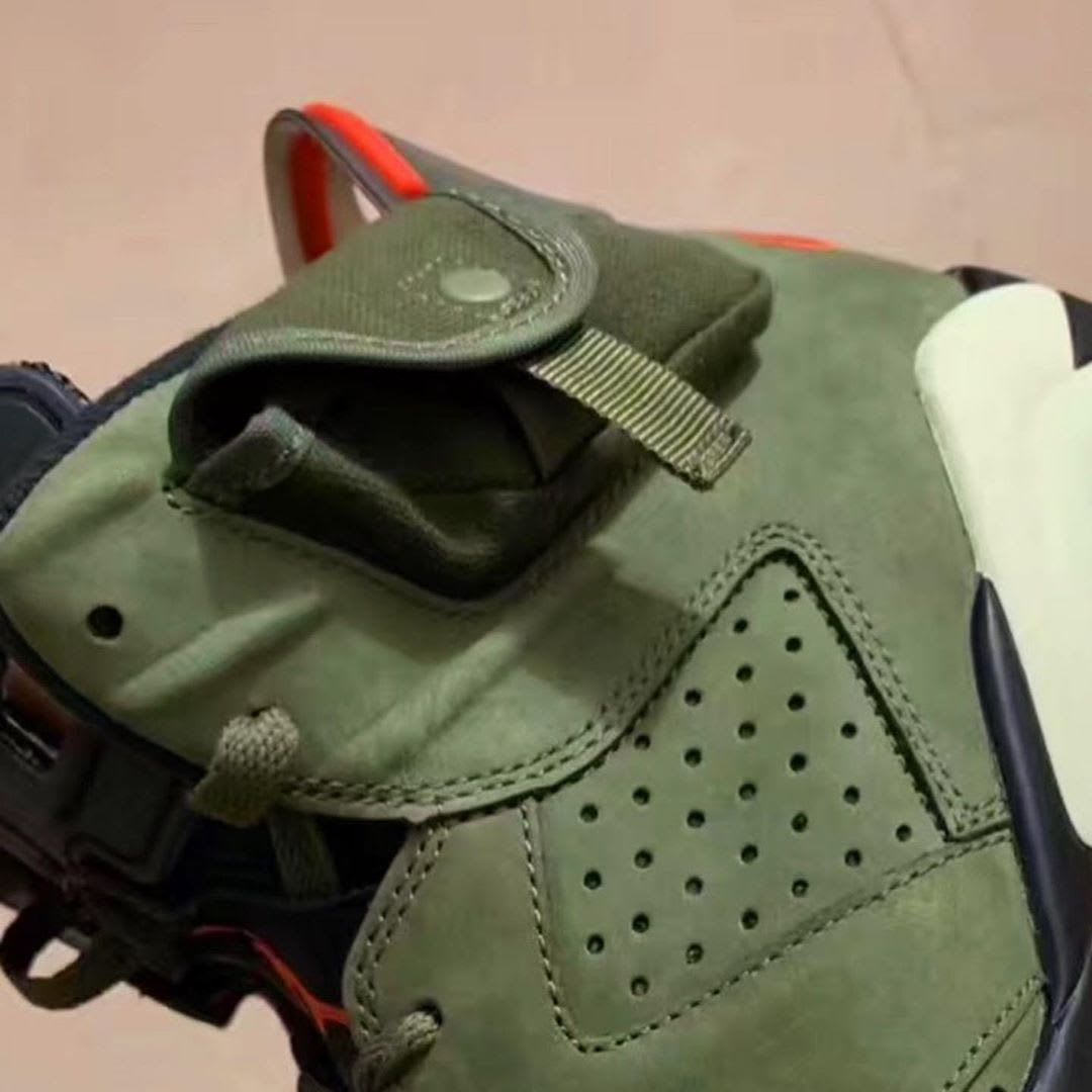Travis Scott x Air Jordan 6 'Medium Olive' (Pocket)