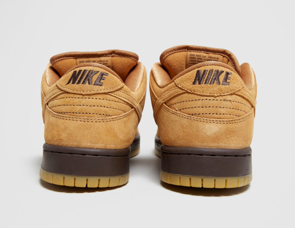 Nike SB Dunk Low Wheat Mocha Release Date BQ6817-204 Back