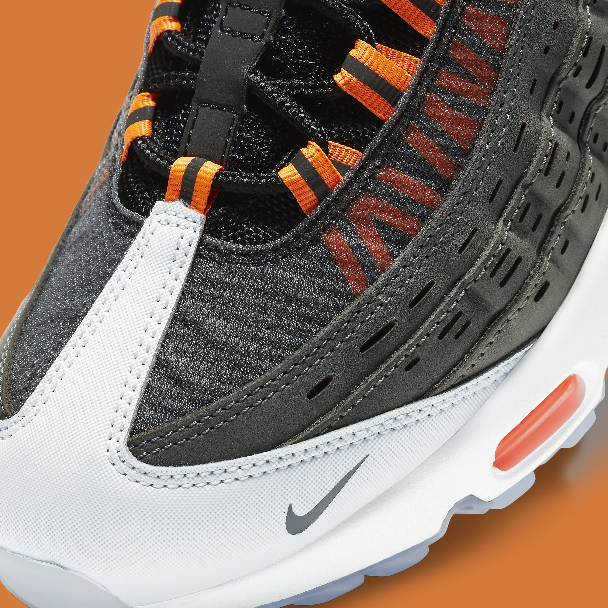 Kim Jones x Nike Air Max 95 Orange Release Date DD1871-001 Toe Detail