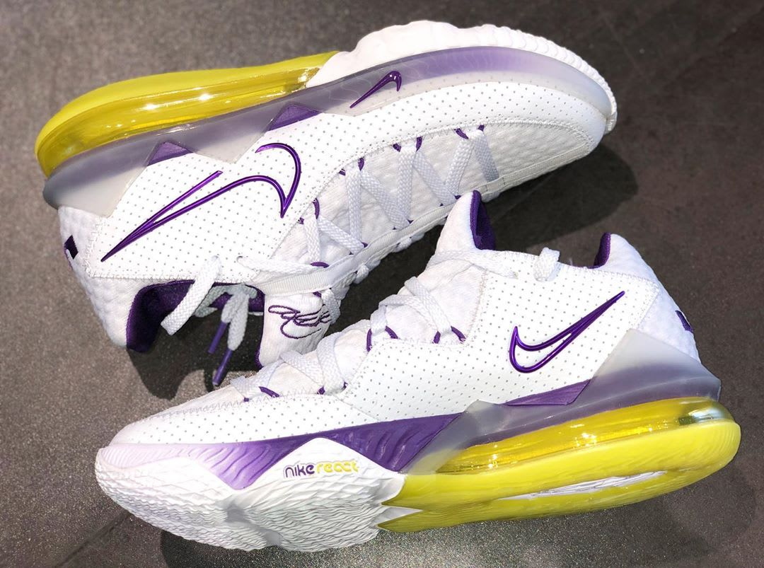 Nike LeBron 17 Low Lakers Home Release Date CD5007-102 Medial