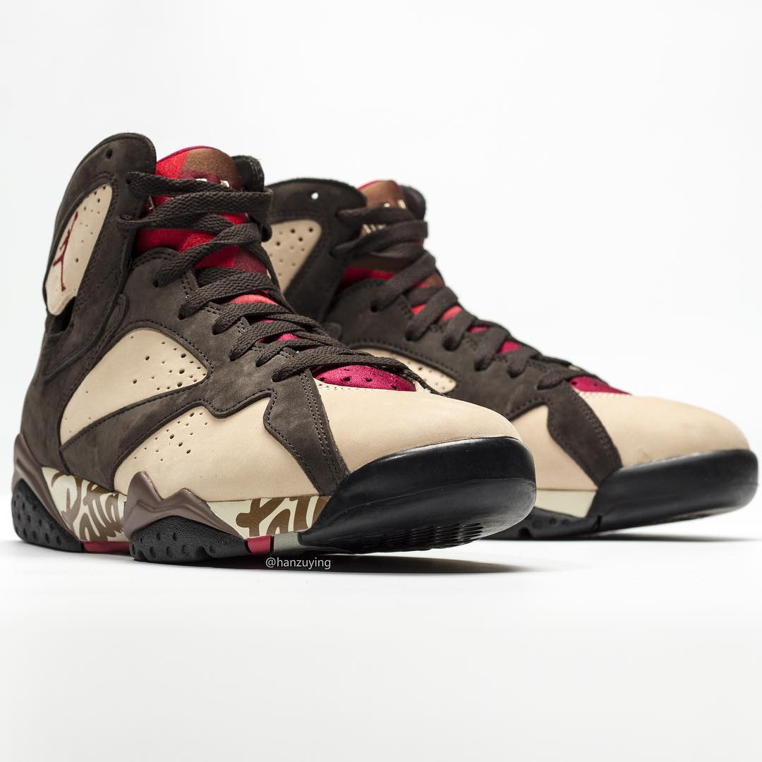 Patta x Air Jordan 7 SP AT3375-200 Toe