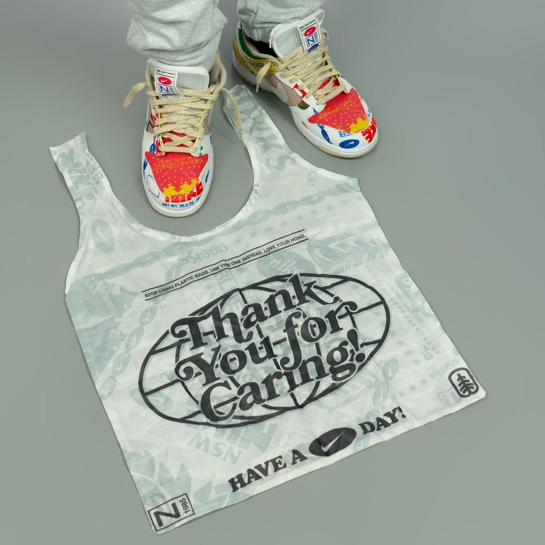 Nike Dunk Low Thank You For Caring Release Date DA6125-900 Bag top