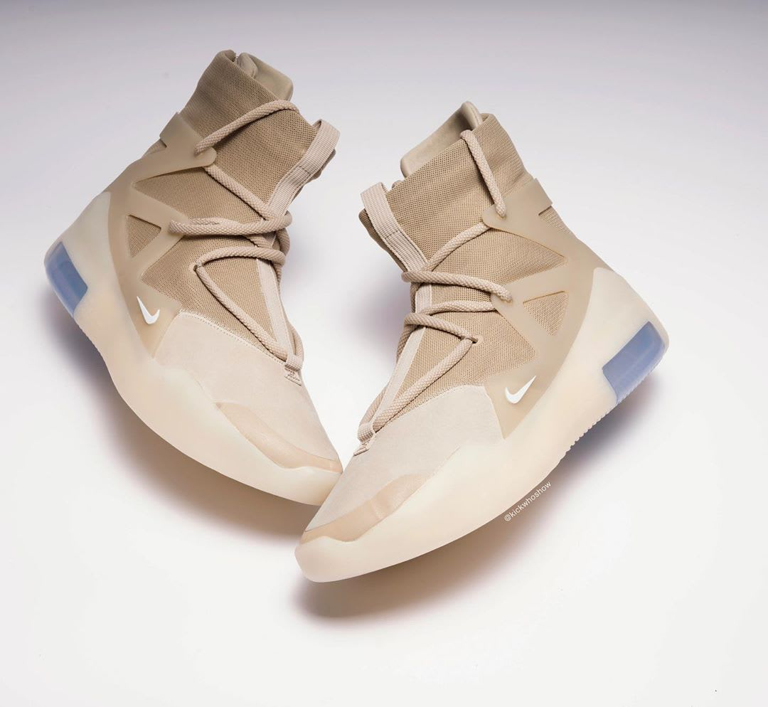 Nike Air Fear of God 1 Oatmeal Release Date AR4237-900 Sides