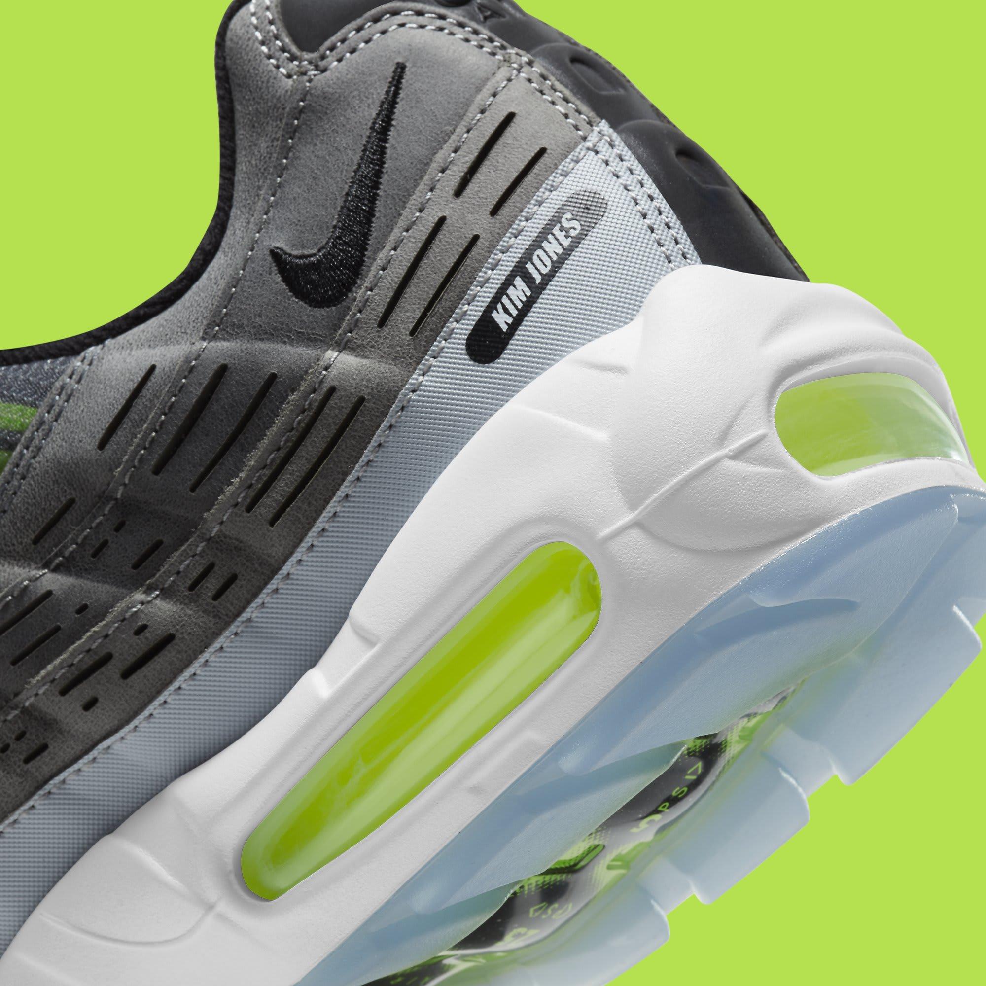 Kim Jones x Nike Air Max 95 Volt Release Date DD1871-002 Heel Detail