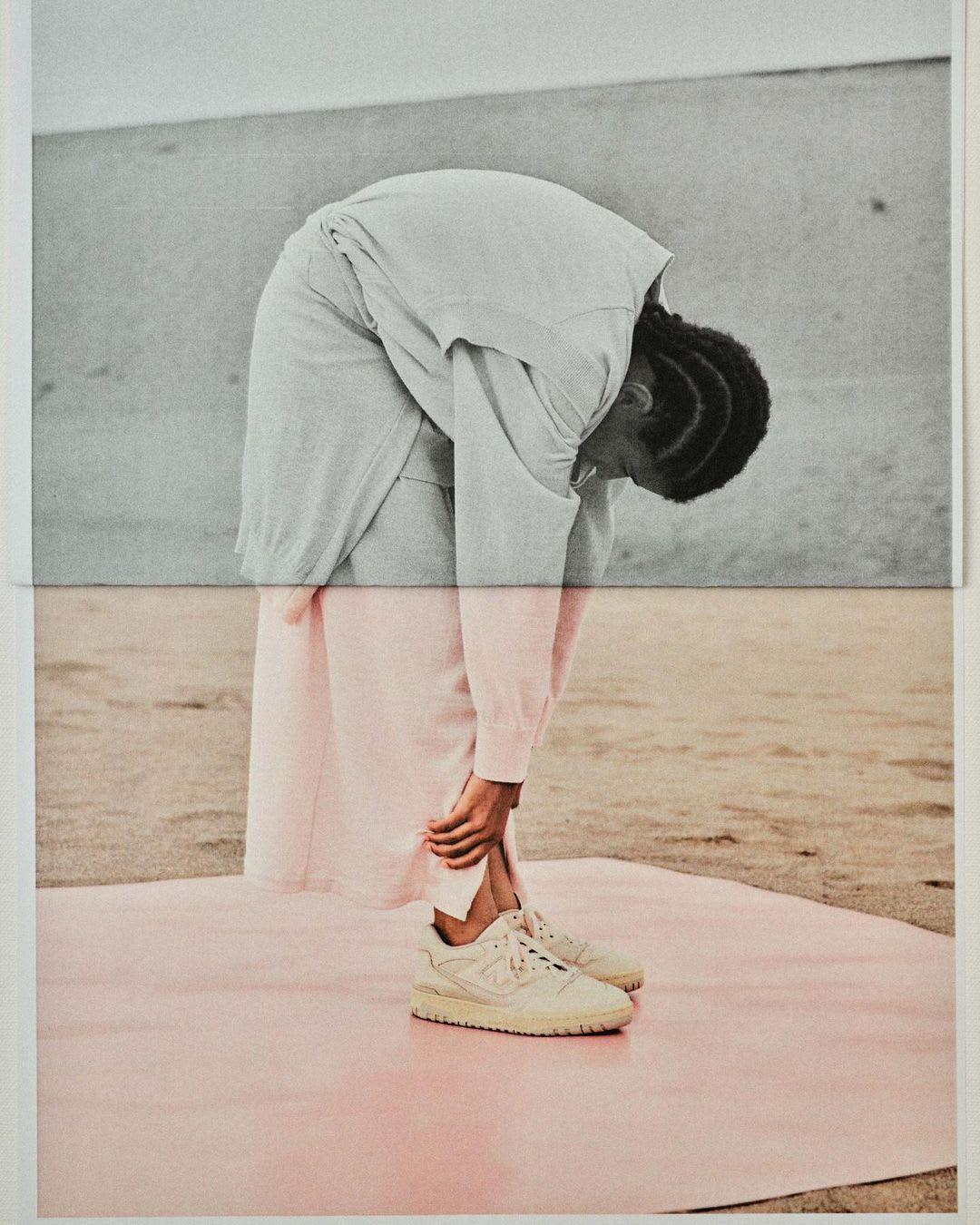 Auralee x New Balance 550 (On-Foot)
